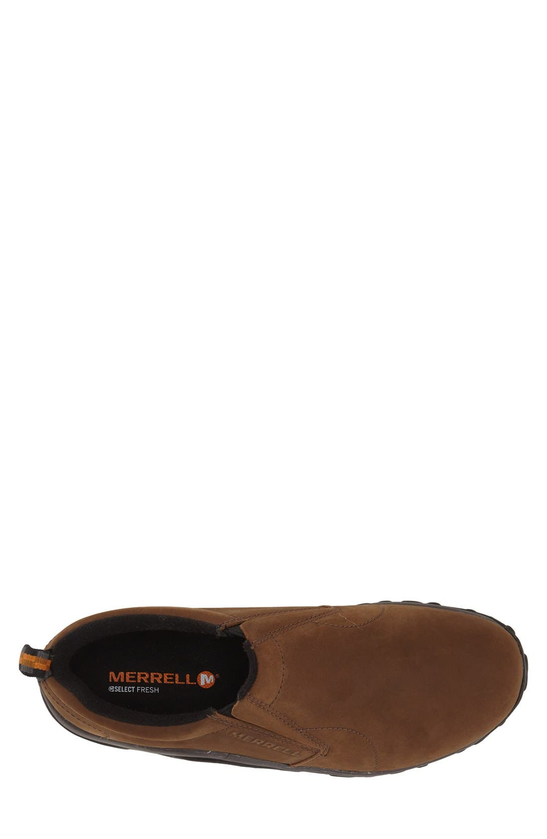 MERRELL, 'Jungle Moc - Nubuck' Slip-On, Alternate thumbnail 3, color, Brown
