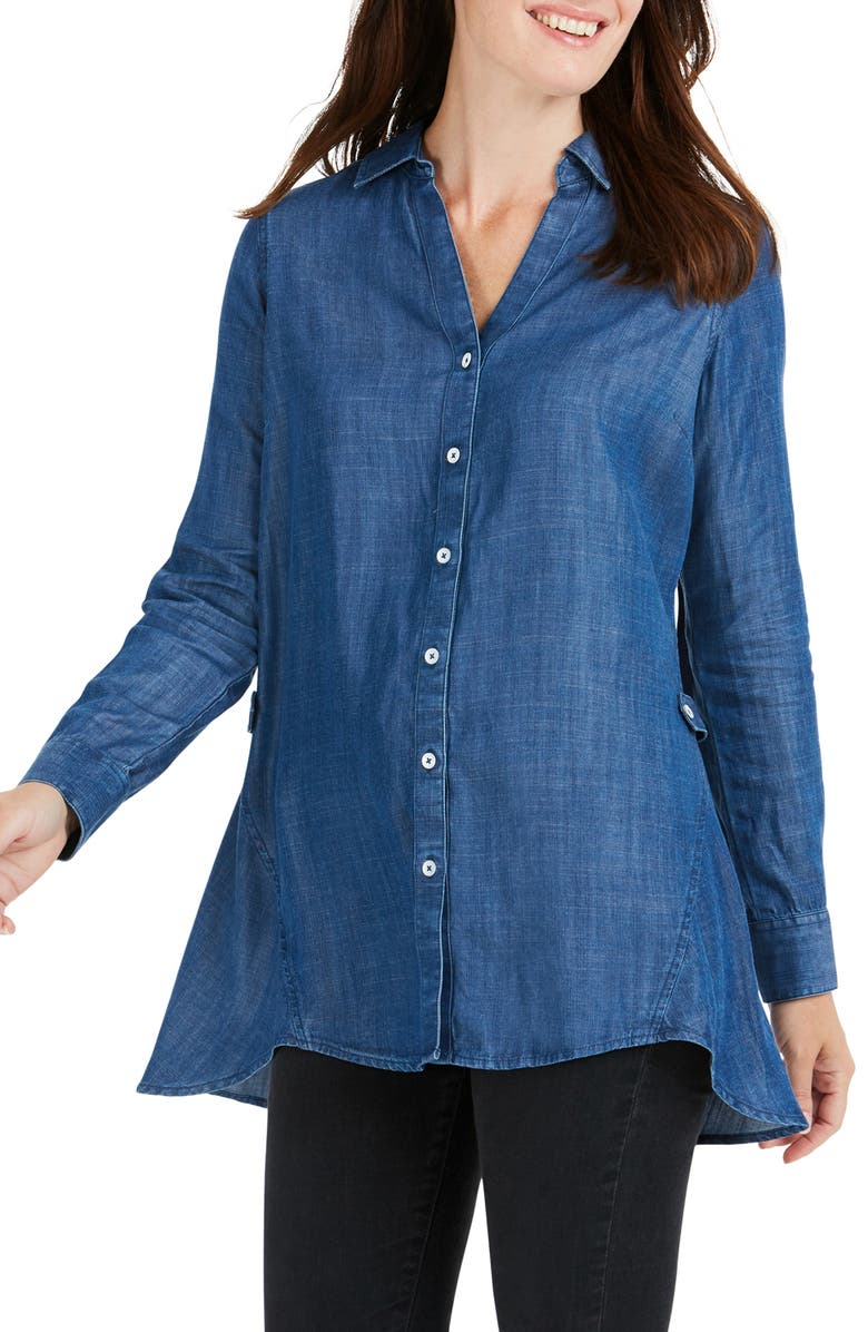 Foxcroft LIZZIE FRONT BUTTON SHIRT