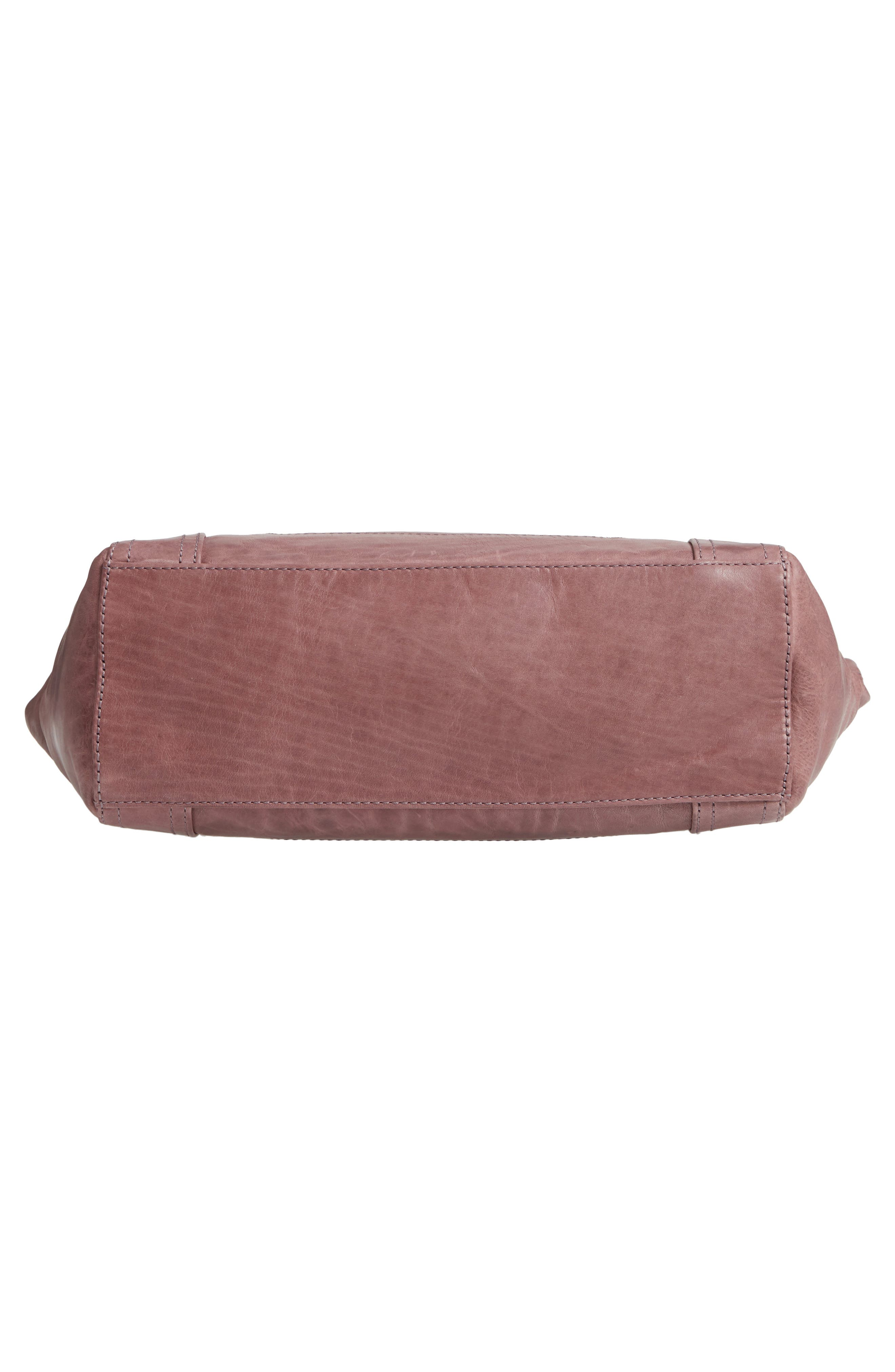 FRYE, Melissa Leather Shoulder Bag, Alternate thumbnail 7, color, LILAC