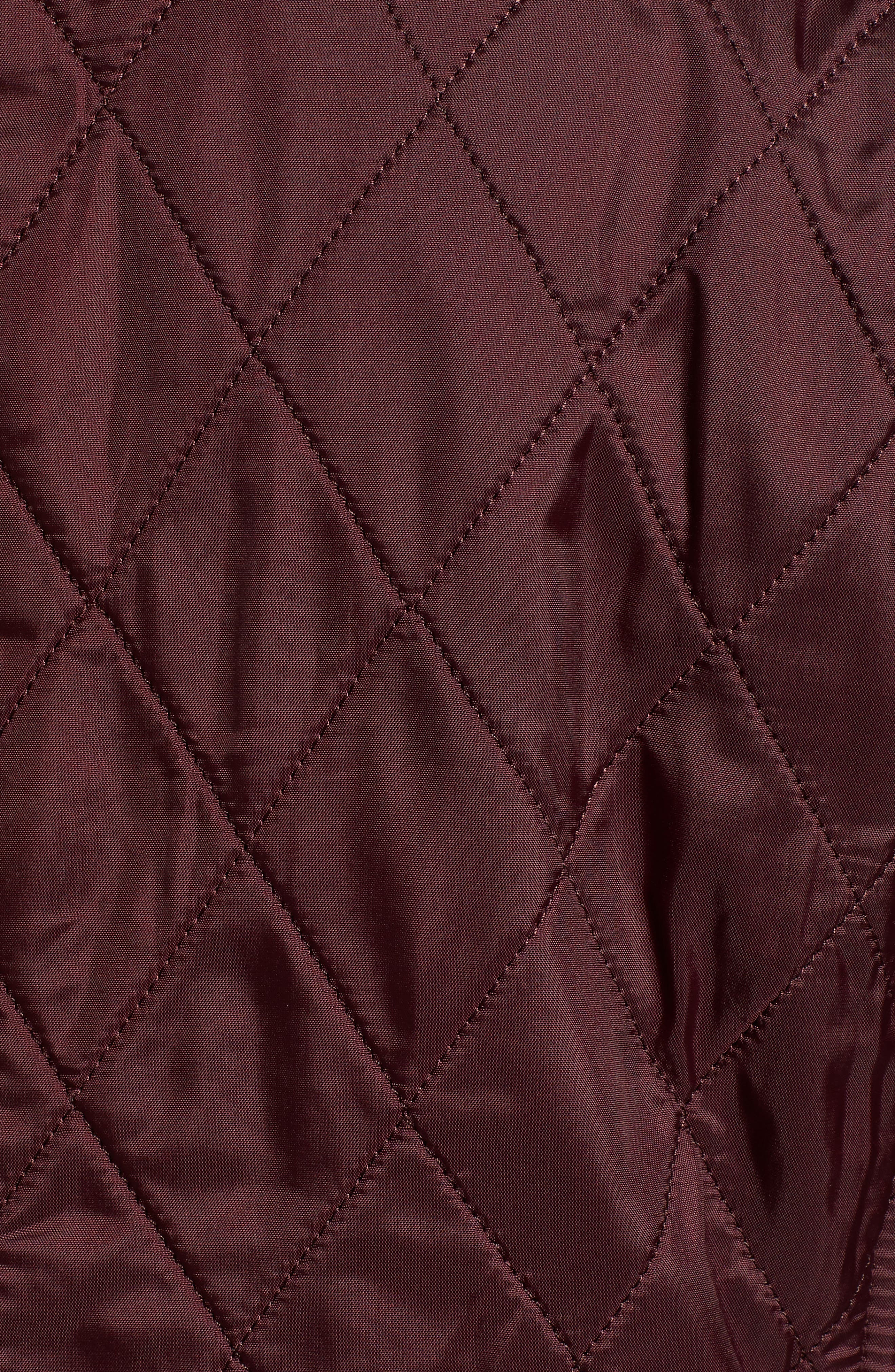 BARBOUR, 'Beadnell' Quilted Jacket, Alternate thumbnail 7, color, 930