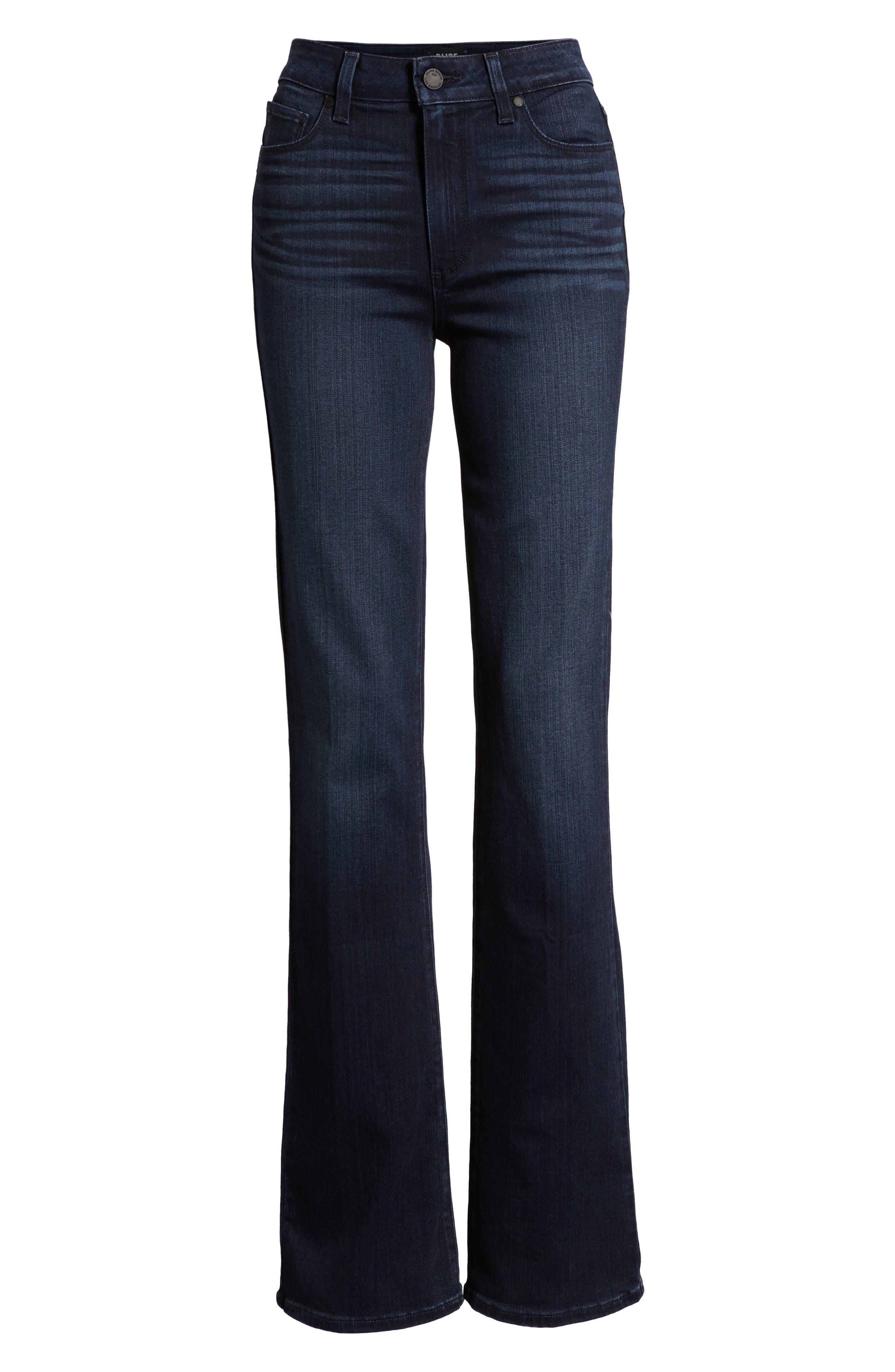 PAIGE, Manhattan High Waist Bootcut Jeans, Alternate thumbnail 7, color, ROSEVILLE