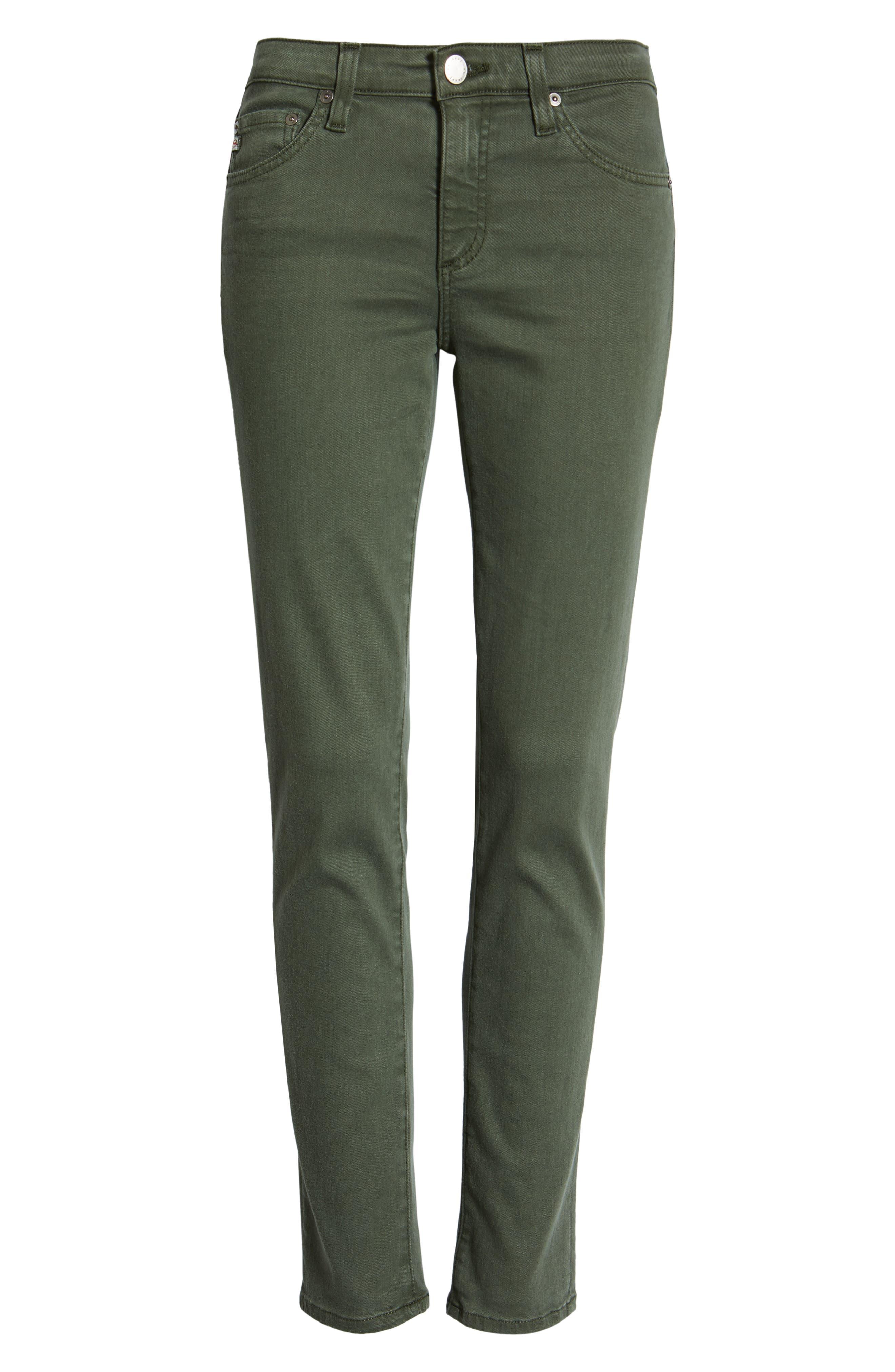 AG, The Prima Ankle Cigarette Jeans, Alternate thumbnail 7, color, 01Y SULFUR ASH GREEN