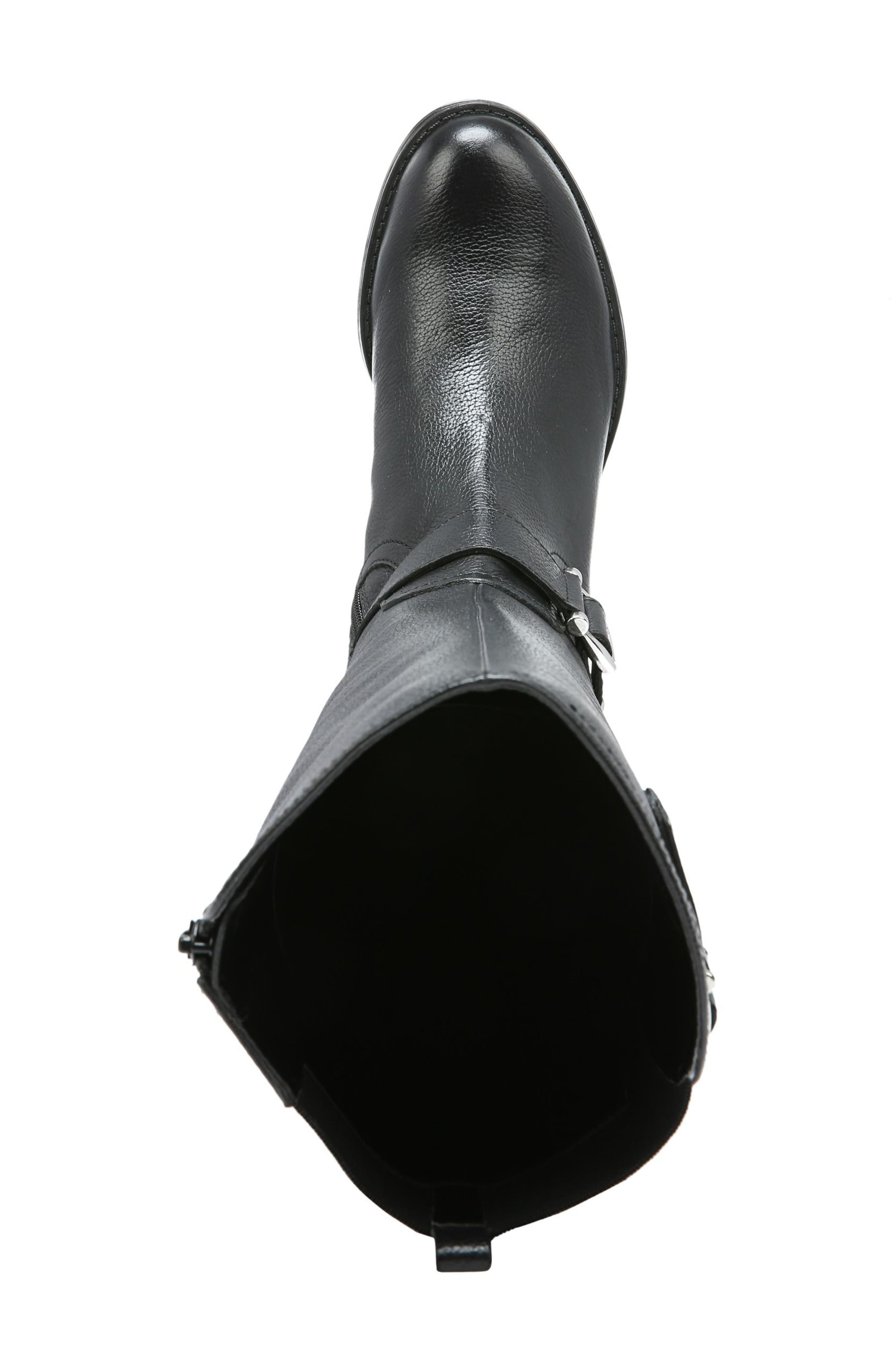 NATURALIZER, Jenelle Tall Boot, Alternate thumbnail 5, color, BLACK LEATHER