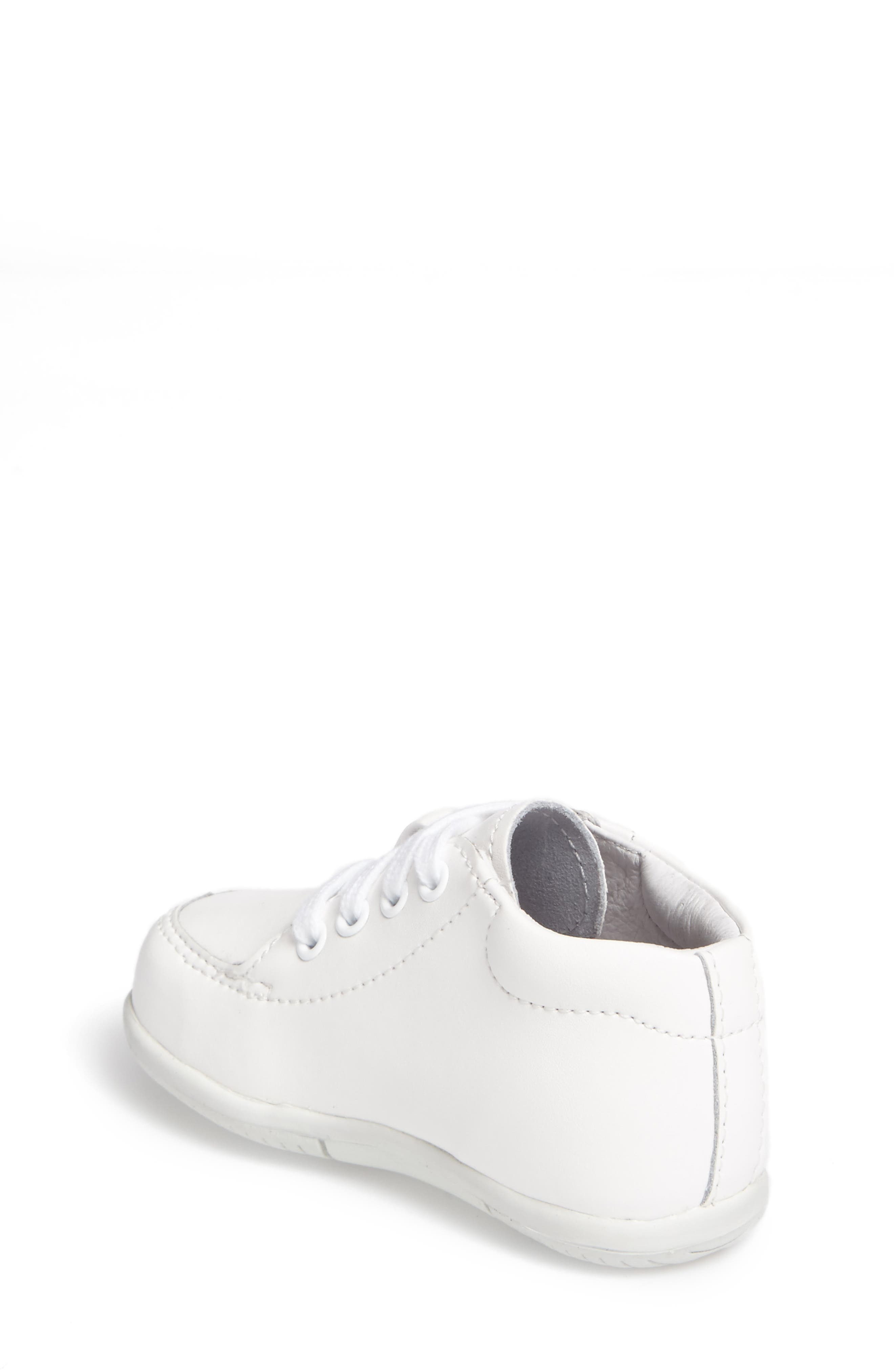 STRIDE RITE, Grayson Sneaker, Alternate thumbnail 2, color, WHITE