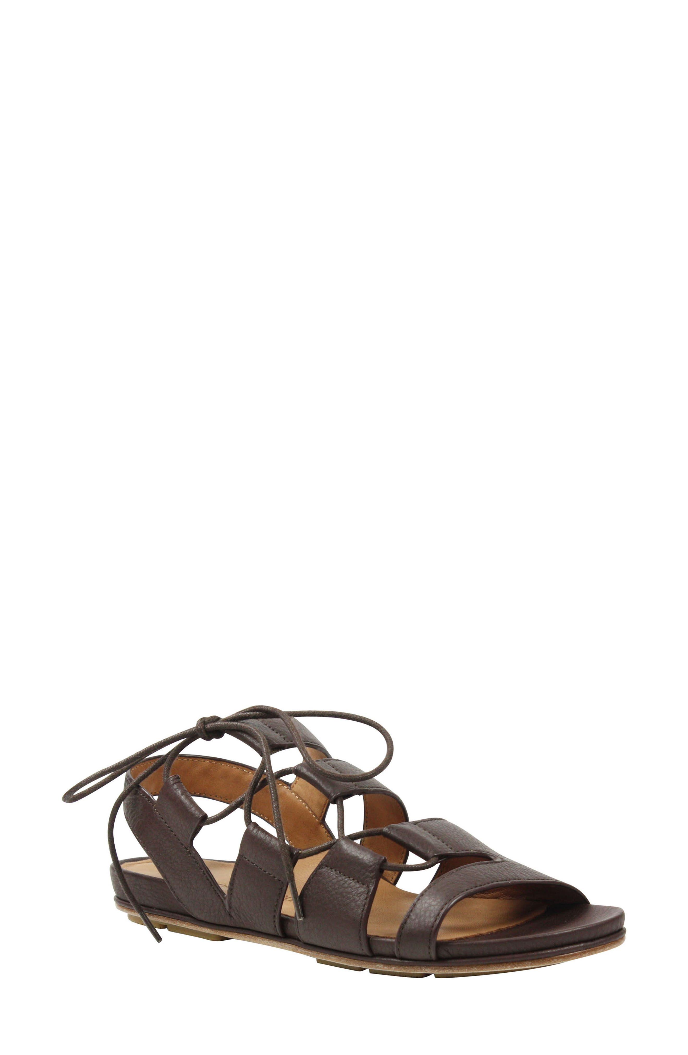 L'AMOUR DES PIEDS Digbee Sandal, Main, color, ESPRESSO LEATHER