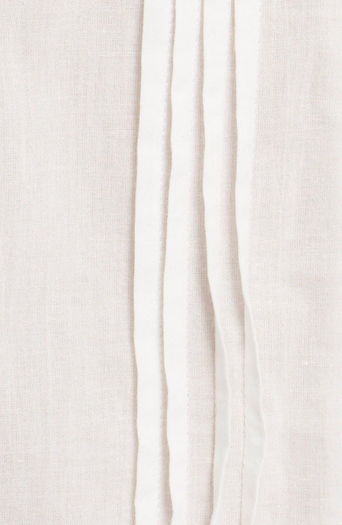 SEA, Lace Trim Cotton Peplum Top, Alternate thumbnail 4, color, 100