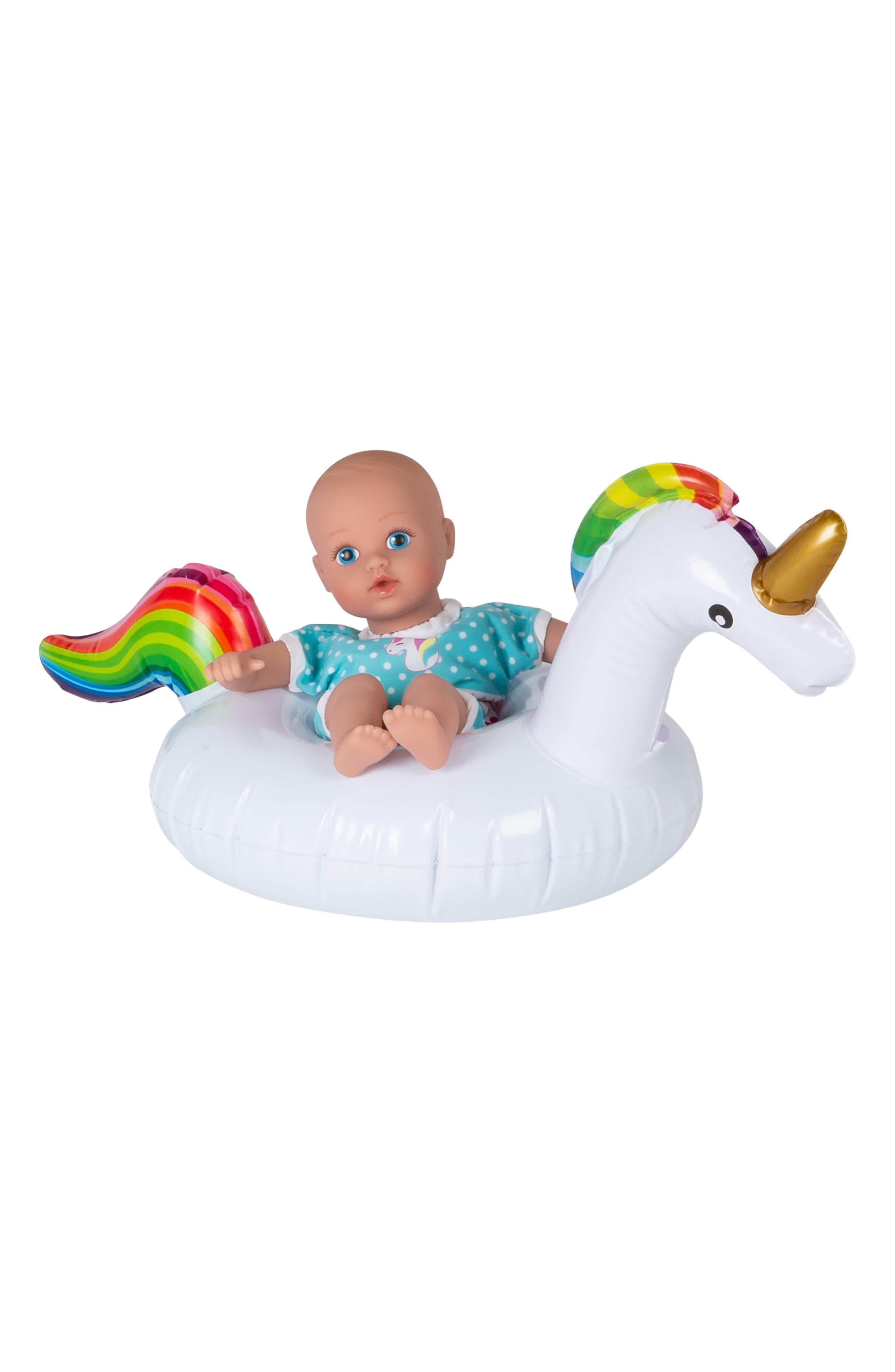 ADORA Magical Unicorn Splashtime Baby Doll, Main, color, WHITE