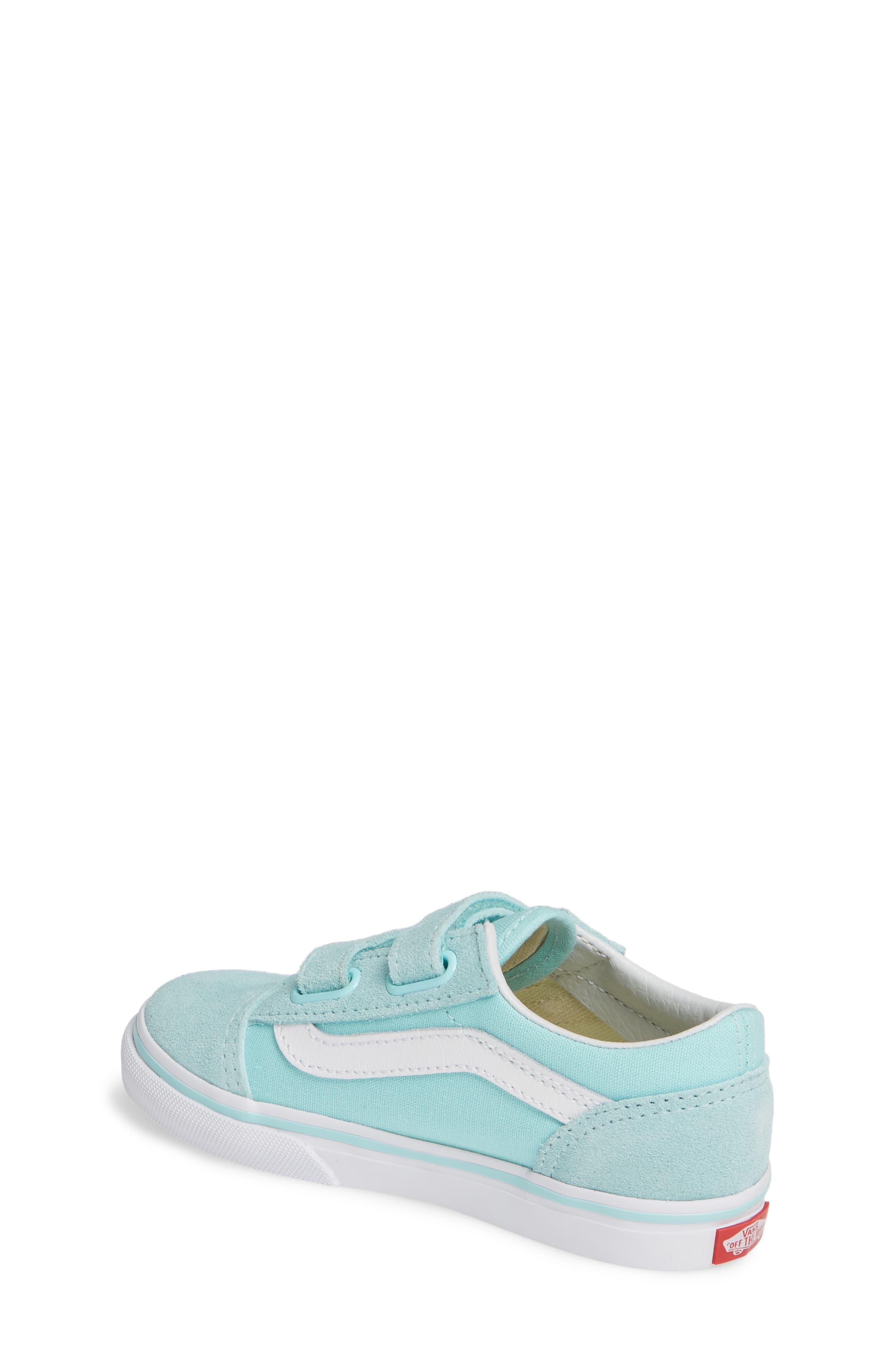 VANS, 'Old Skool V' Sneaker, Alternate thumbnail 2, color, BLUE TINT/ TRUE WHITE