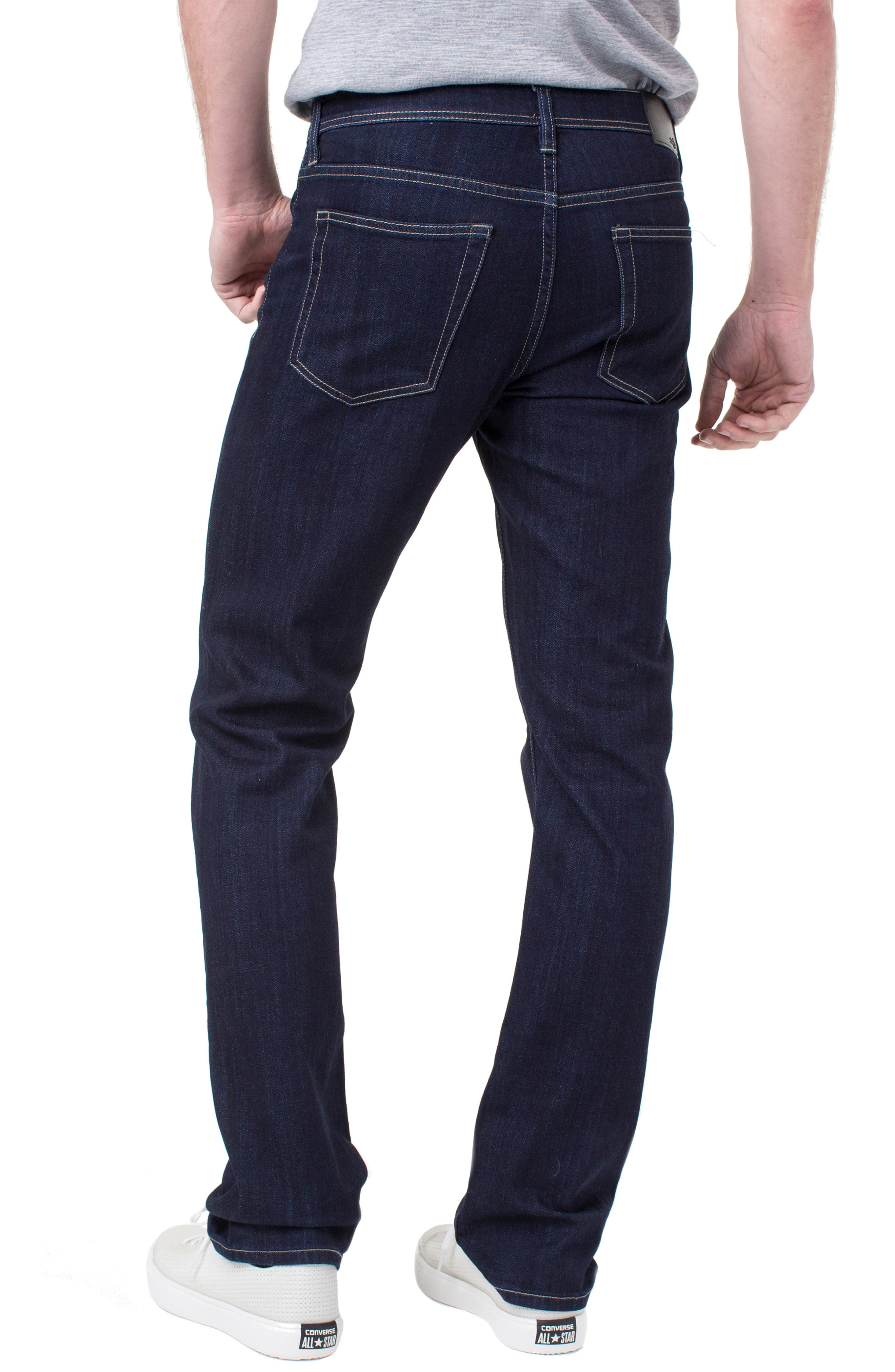 LIVERPOOL, Regent Relaxed Straight Leg Jeans, Alternate thumbnail 2, color, IND RINSE