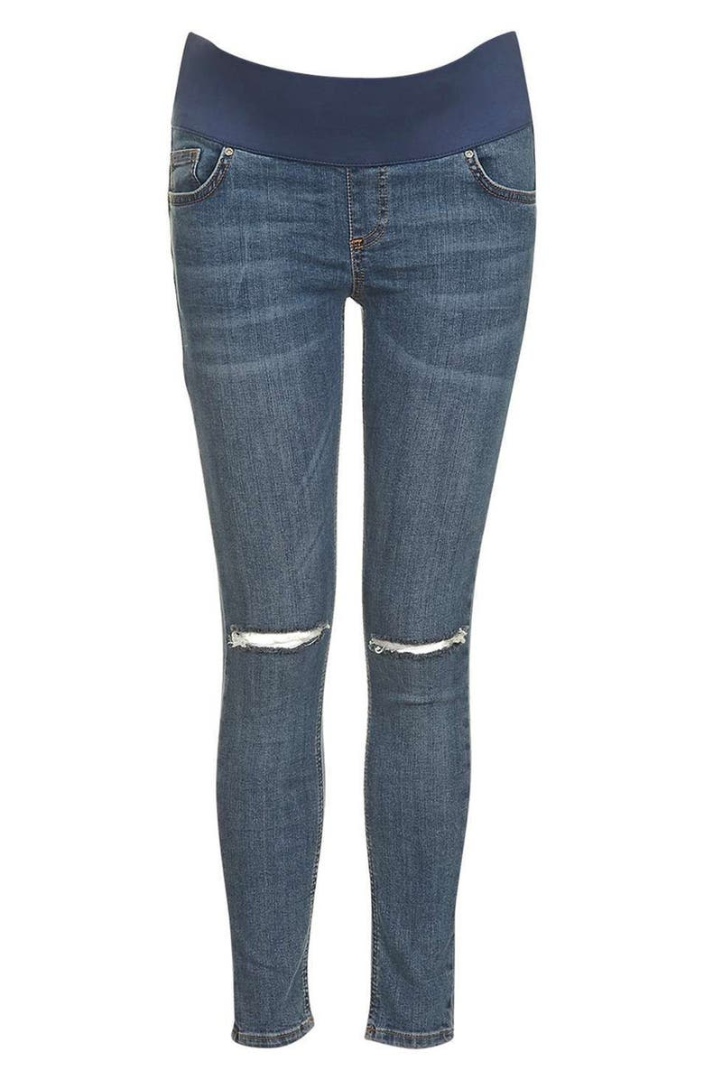 85b3aef4e2780 TOPSHOP Moto Jamie Ripped Skinny Maternity Jeans, Main, color, 400