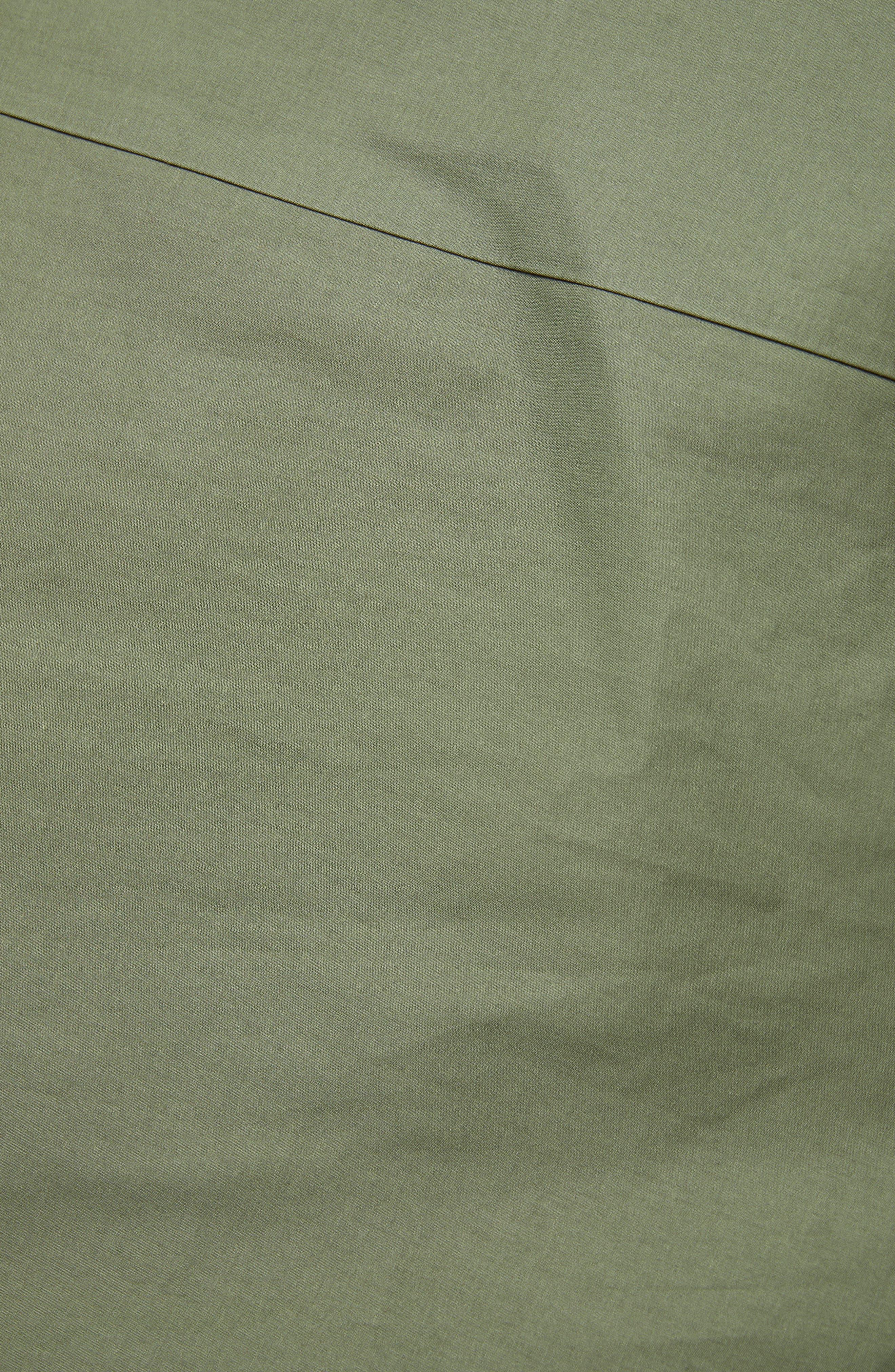 MACKINTOSH, Gents Bonded Cotton Hooded Poncho, Alternate thumbnail 7, color, FOUR LEAF CLOVER/ BLUE DEPTH