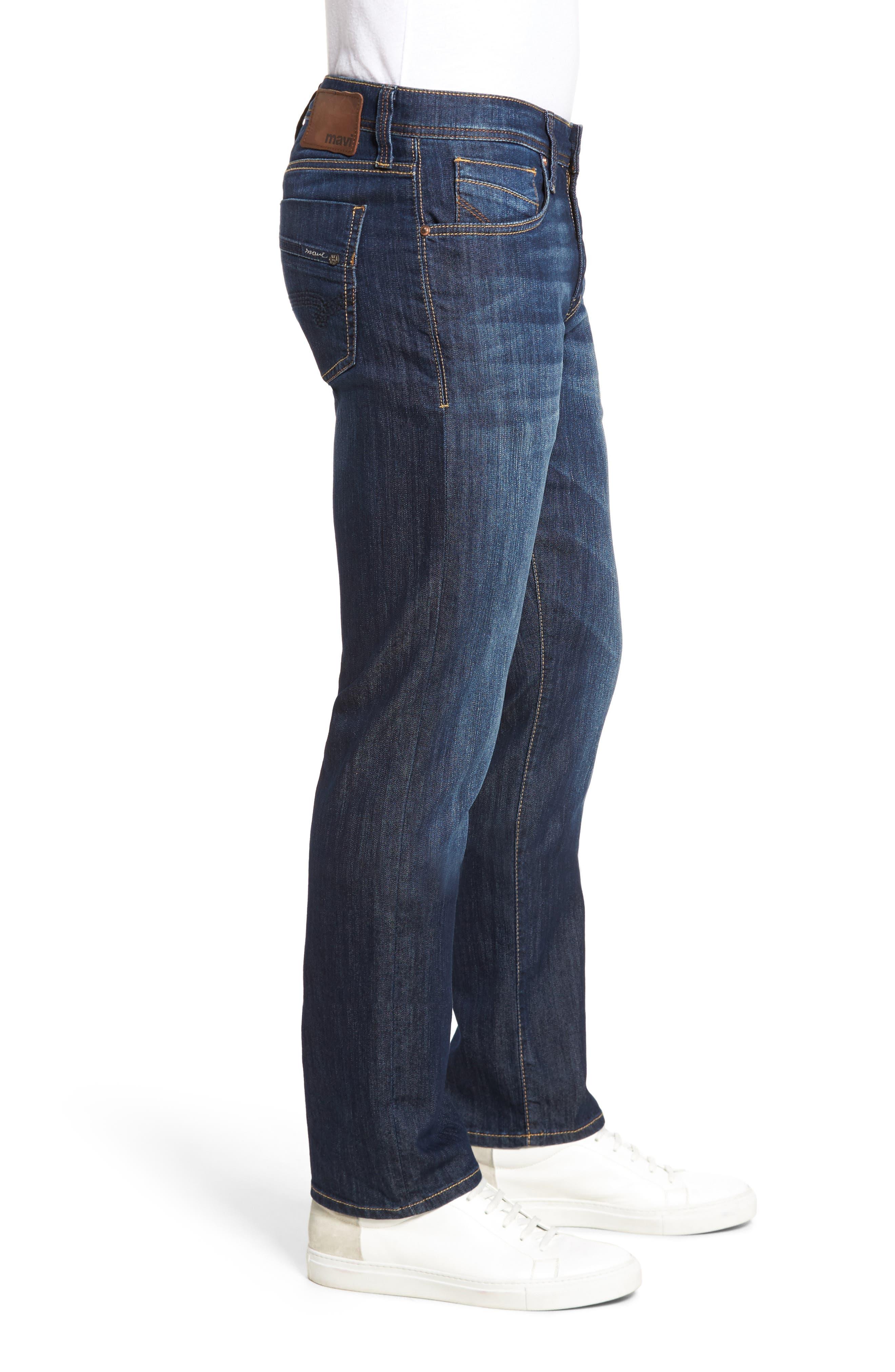 MAVI JEANS, Zach Straight Leg Jeans, Alternate thumbnail 4, color, DARK MAUI