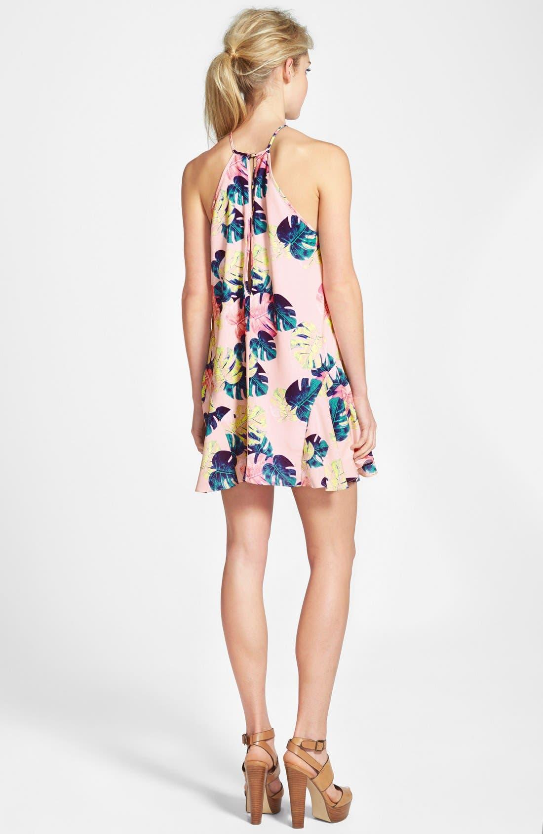WHITNEY EVE, Palm Leaf Dress, Alternate thumbnail 3, color, 200