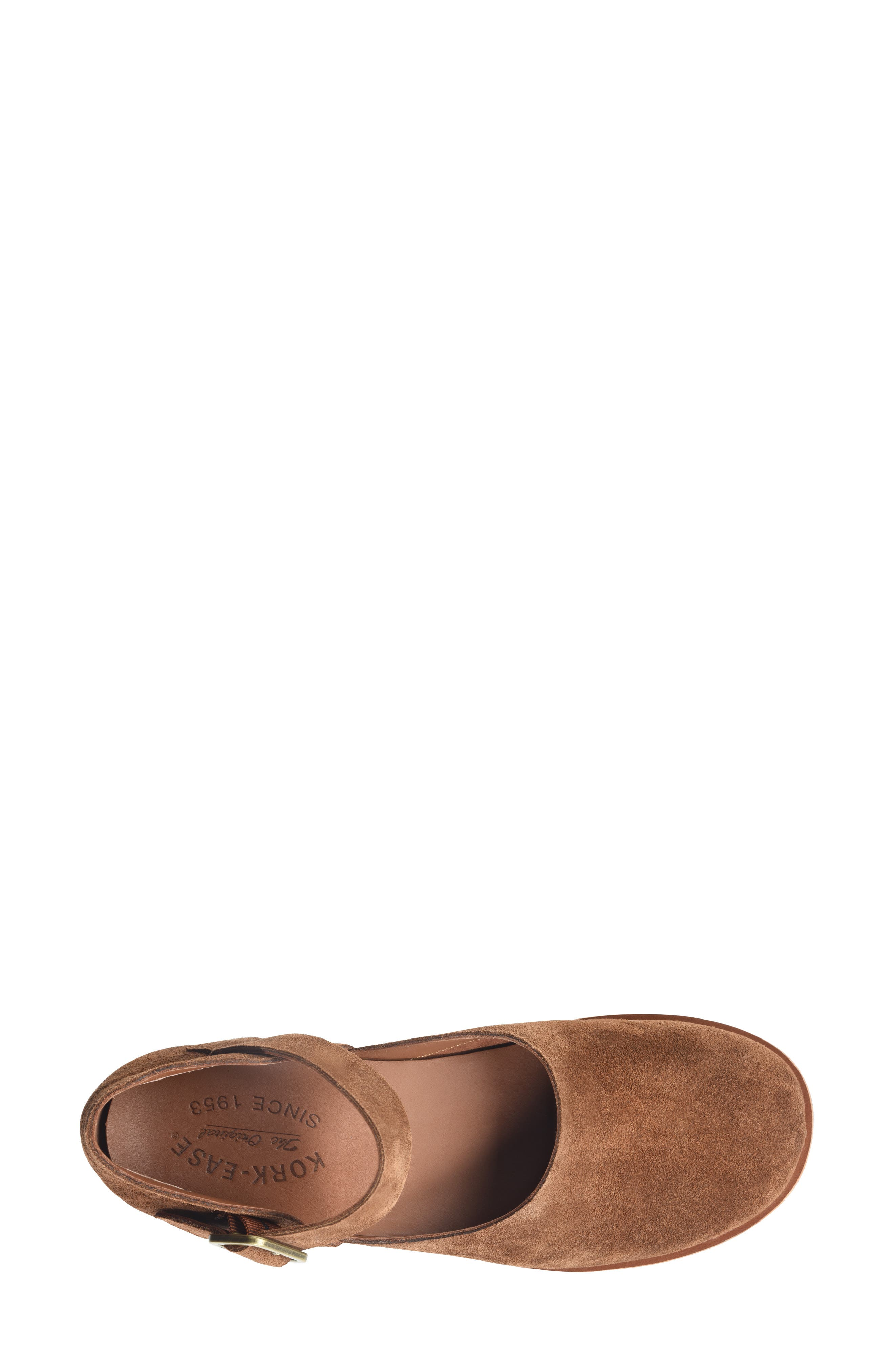 KORK-EASE<SUP>®</SUP>, Bellota Mary Jane Flat, Alternate thumbnail 3, color, BROWN SUEDE