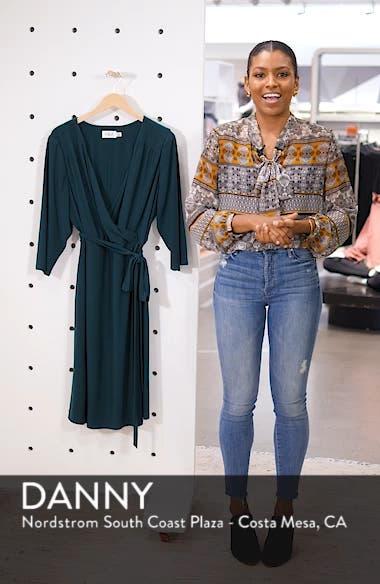 Smocked Shoulder Wrap Dress, sales video thumbnail
