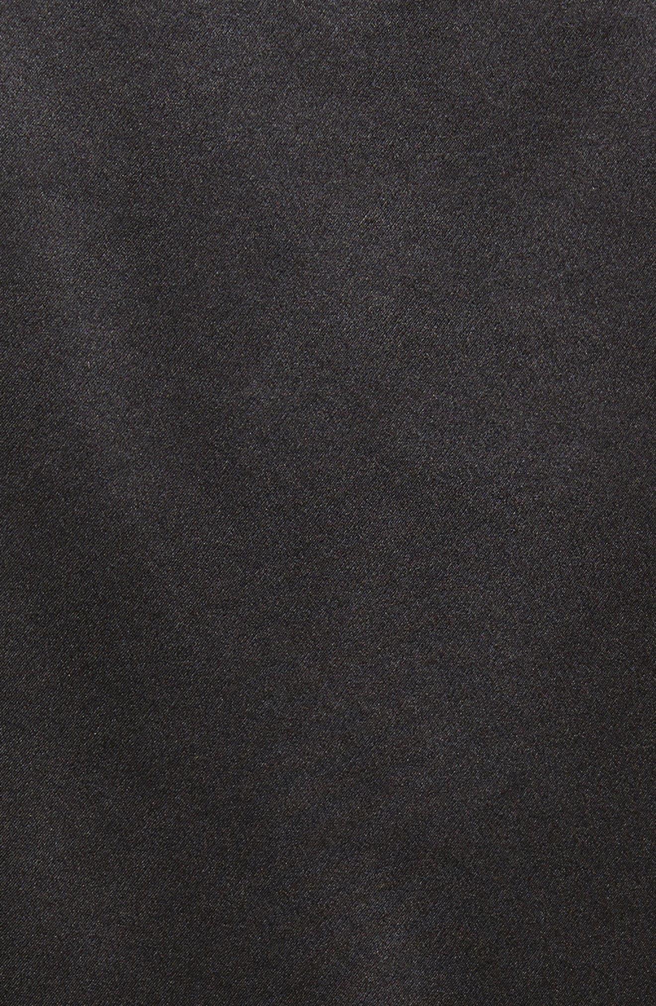 LAFAYETTE 148 NEW YORK, Perla Reversible Silk Blouse, Alternate thumbnail 5, color, BLACK