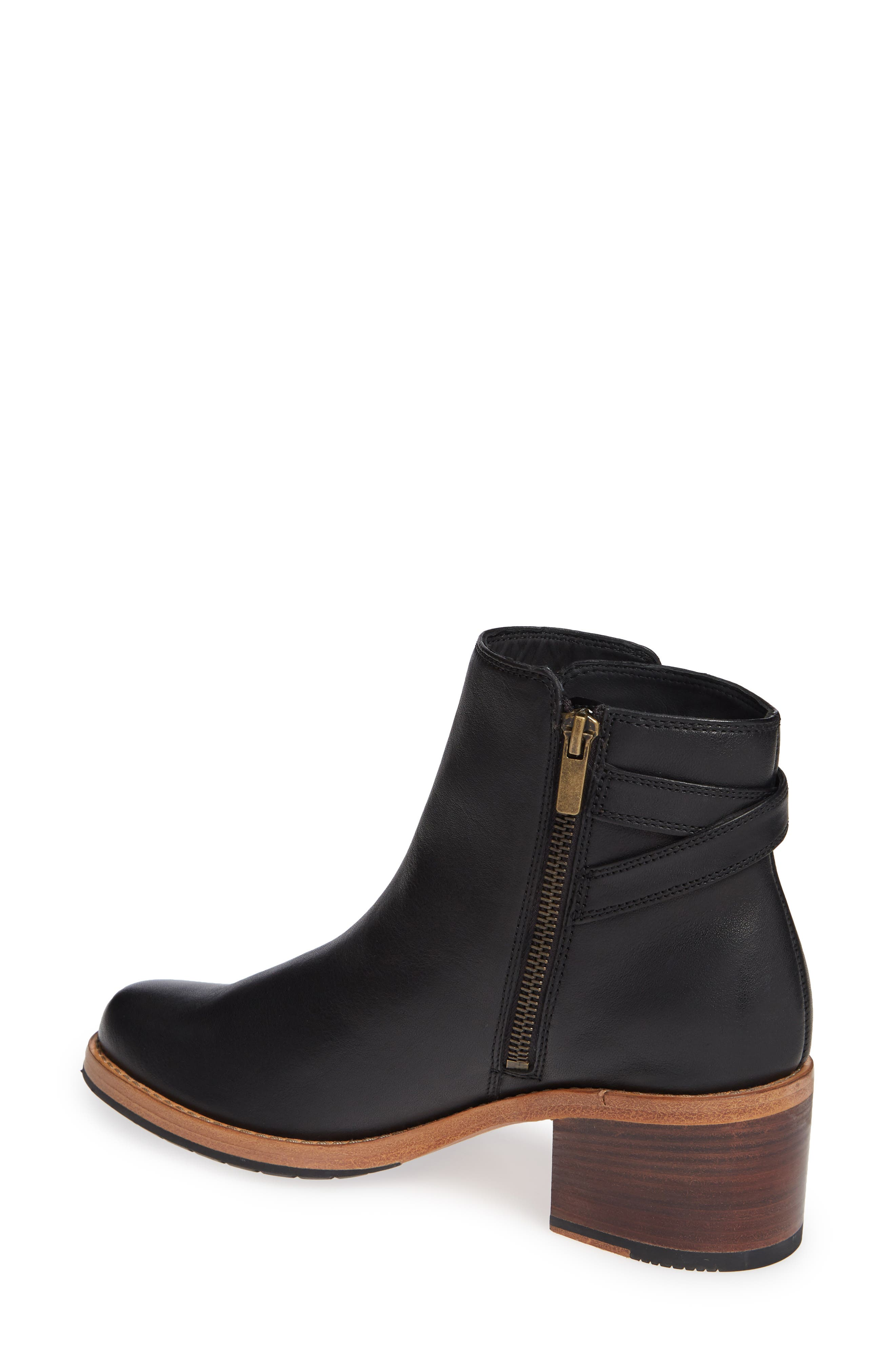 CLARKS<SUP>®</SUP>, Clarkdale Jax Bootie, Alternate thumbnail 2, color, BLACK LEATHER