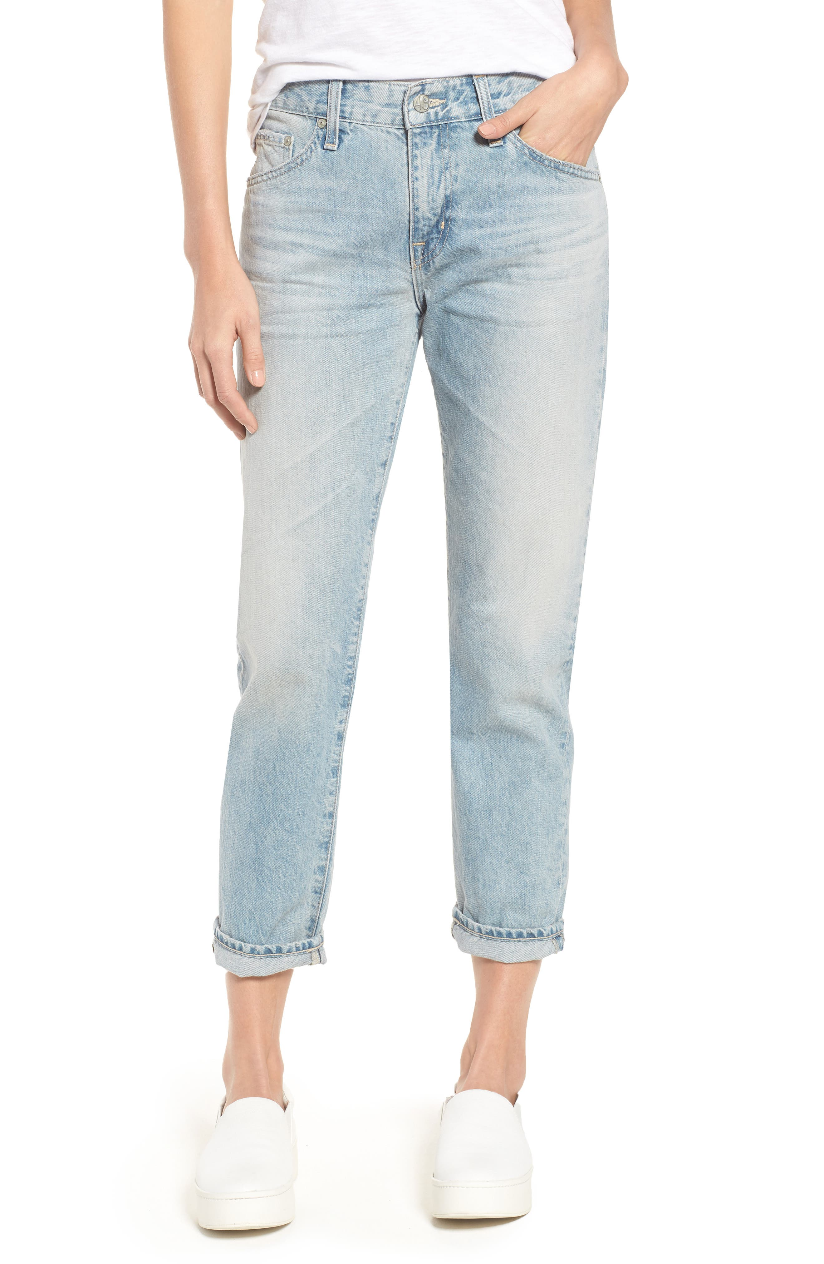 AG 'The Ex Boyfriend' Slim Jeans, Main, color, 469