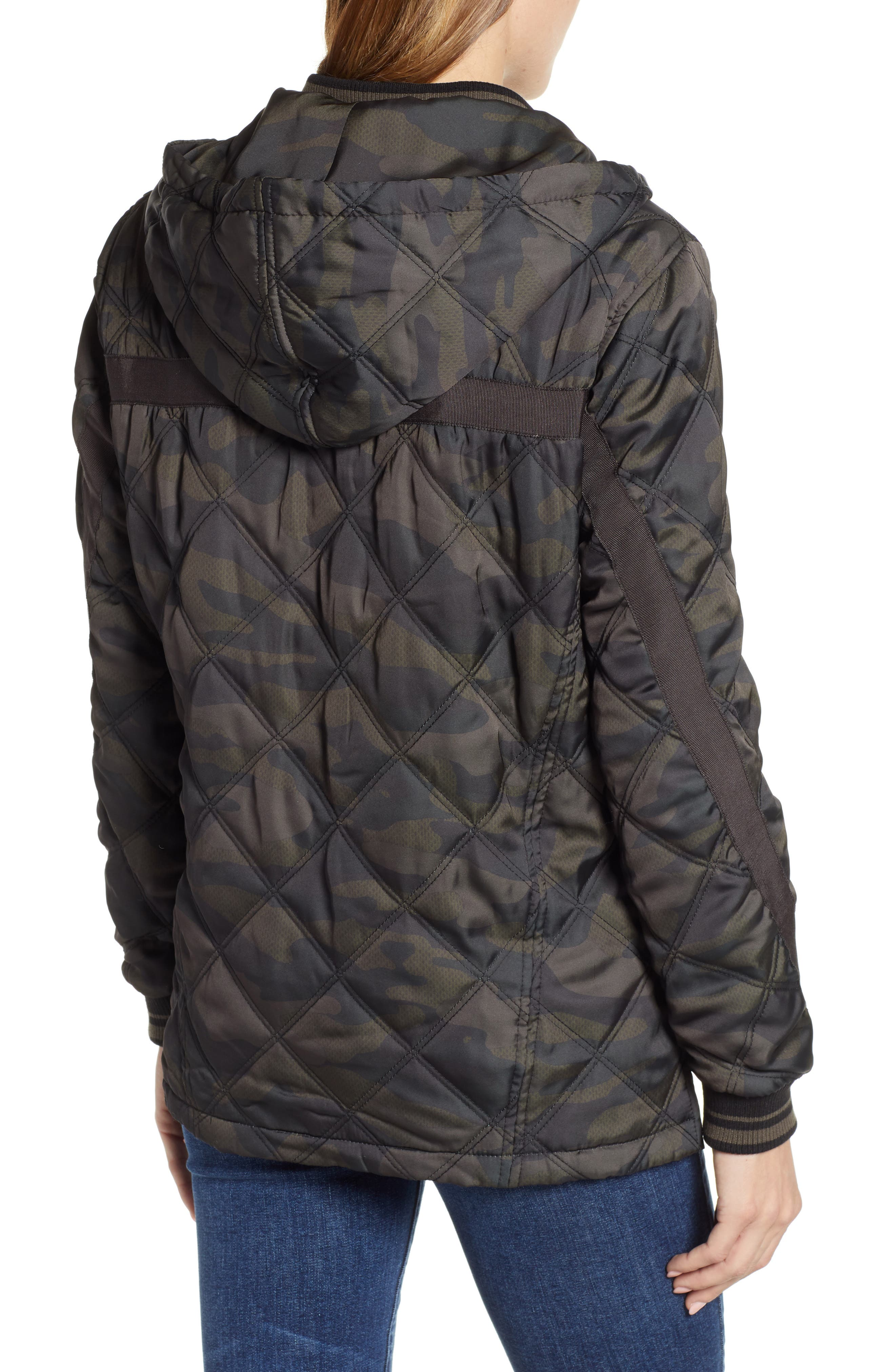 WIT & WISDOM, Lightweight Quilted Jacket, Alternate thumbnail 2, color, OLIVE