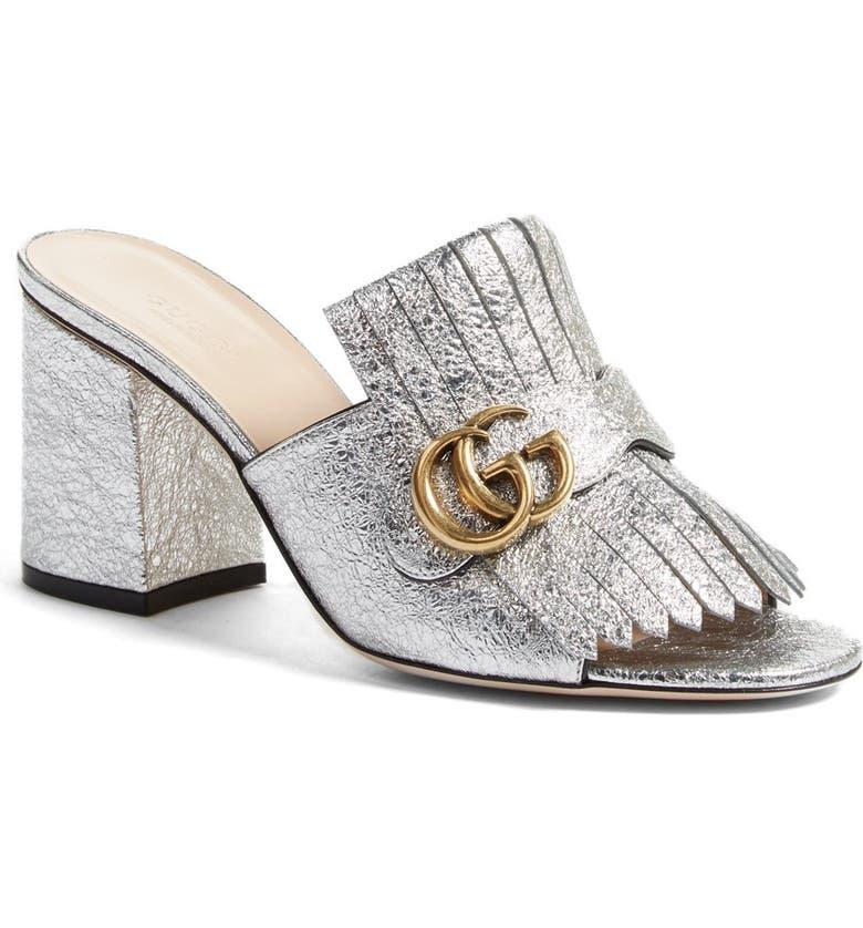 1b7bf4781 Gucci GG Marmont Peep Toe Kiltie Mule (Women)