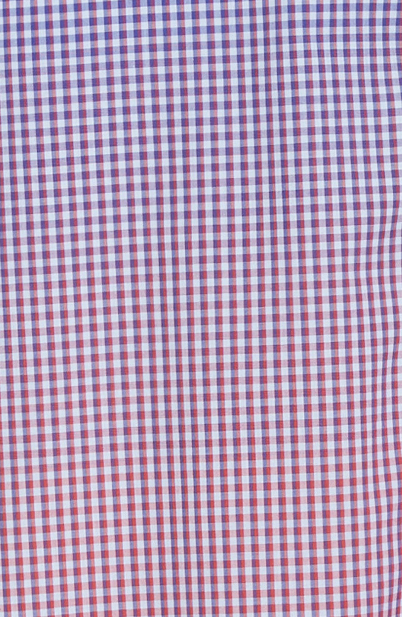 ZACHARY PRELL, Germain Regular Fit Gradient Check Sport Shirt, Alternate thumbnail 6, color, RED