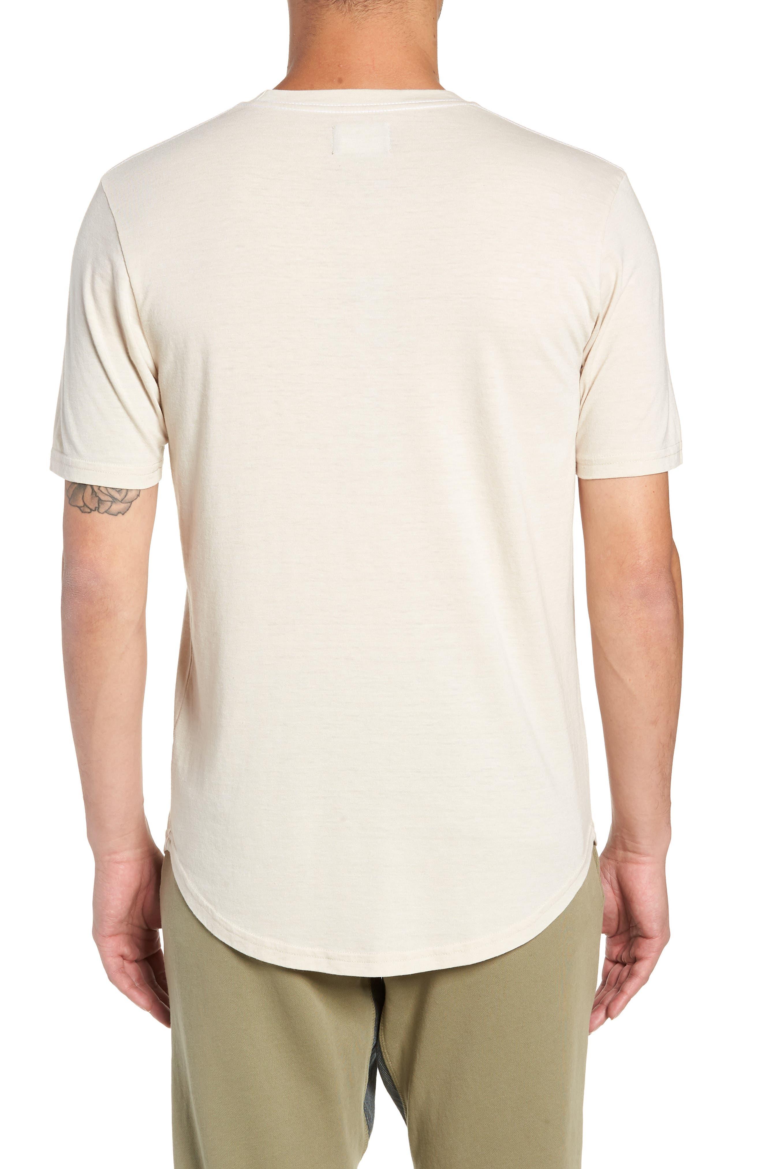 GOODLIFE, Scallop Triblend Crewneck T-Shirt, Alternate thumbnail 2, color, OYSTER