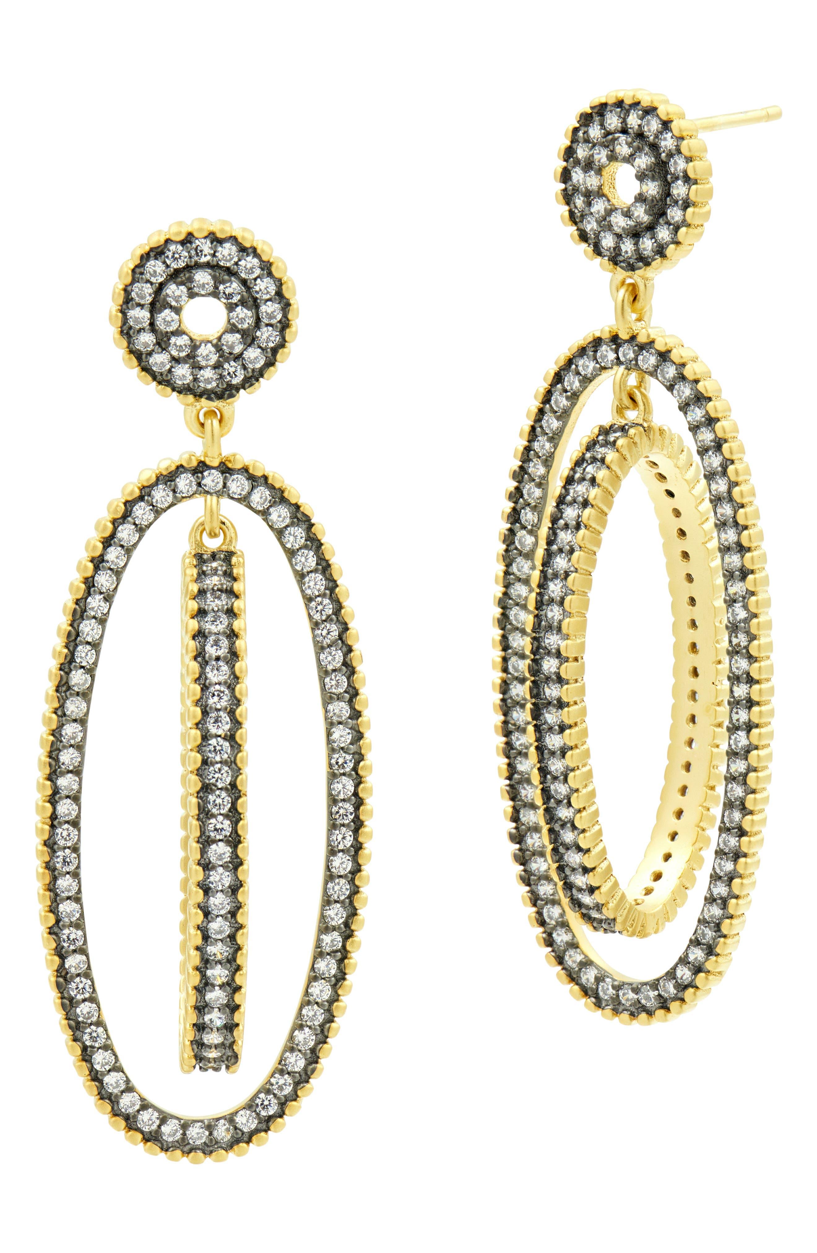 FREIDA ROTHMAN, Rotating Orbit Drop Earrings, Main thumbnail 1, color, 710