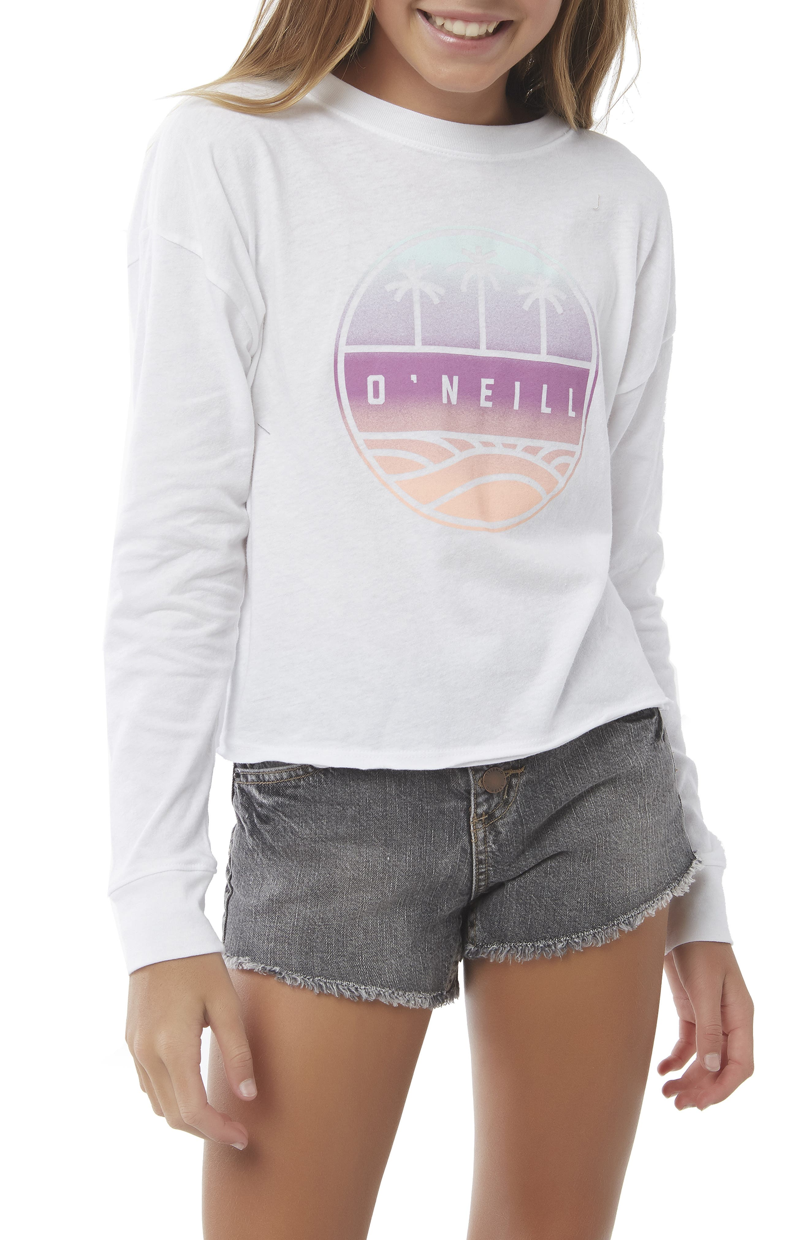 O'NEILL, Boardwalk Graphic Tee, Alternate thumbnail 2, color, 100
