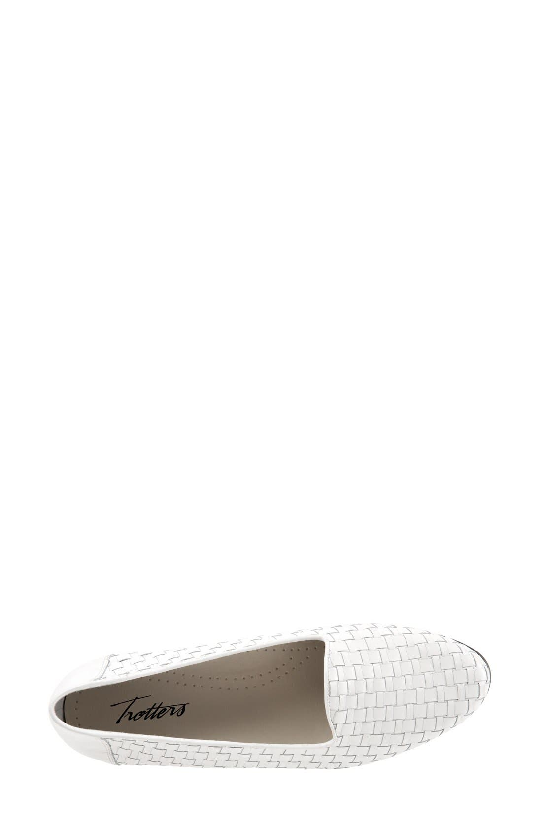 TROTTERS, Slip-On, Alternate thumbnail 3, color, WHITE