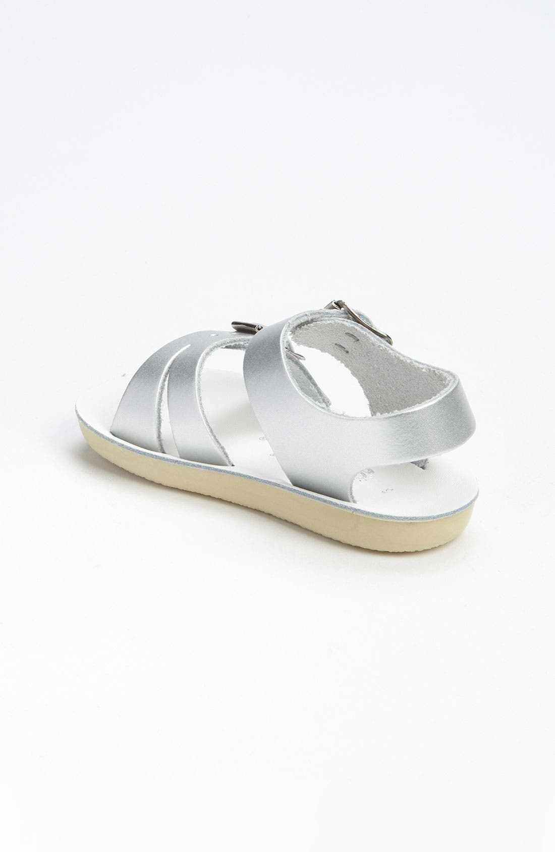 SALT WATER SANDALS BY HOY, Sea Wee Water Friendly Sandal, Alternate thumbnail 3, color, SILVER