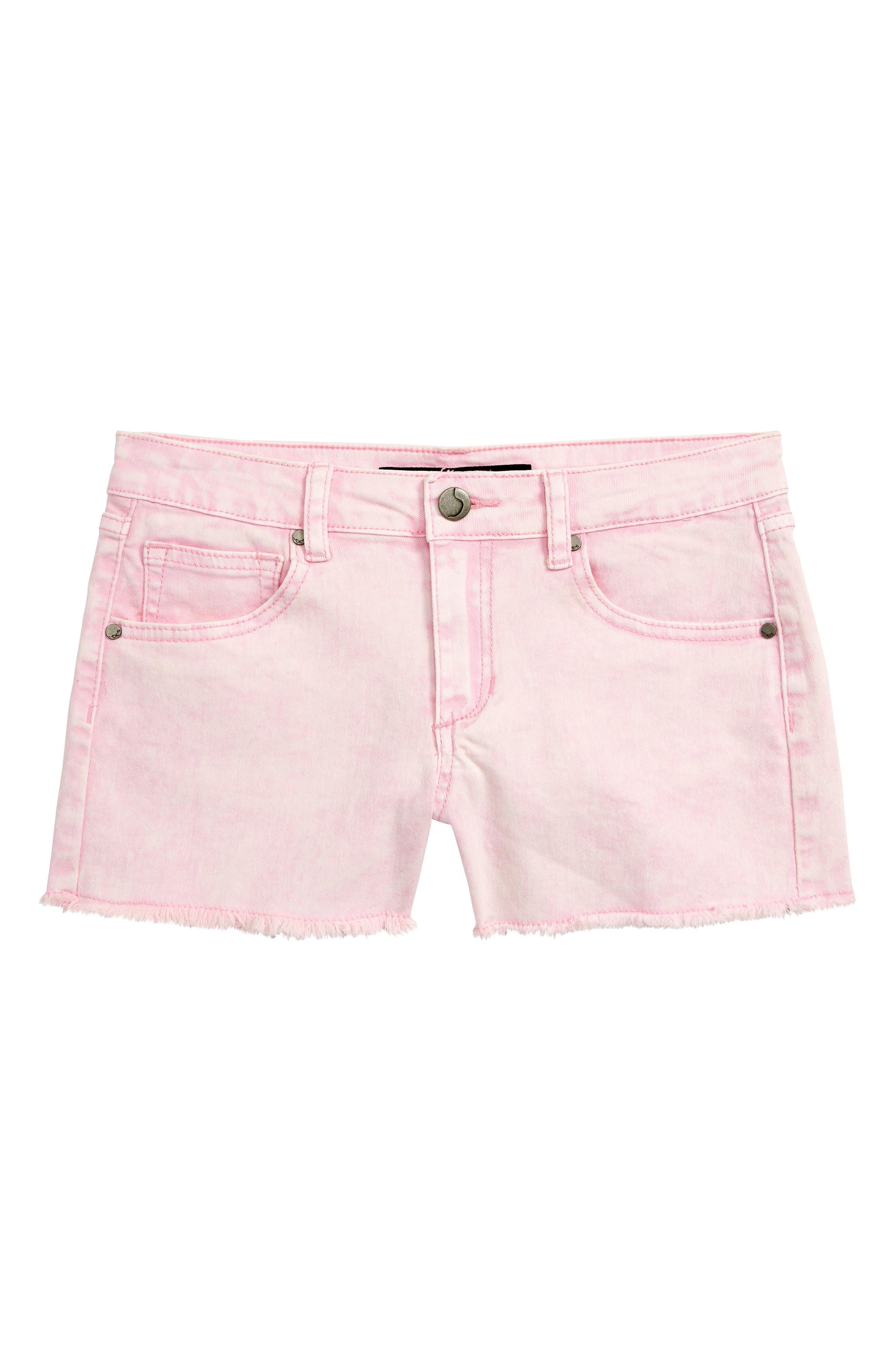 JOE'S The Markie Cutoff Denim Shorts, Main, color, PRISM PINK