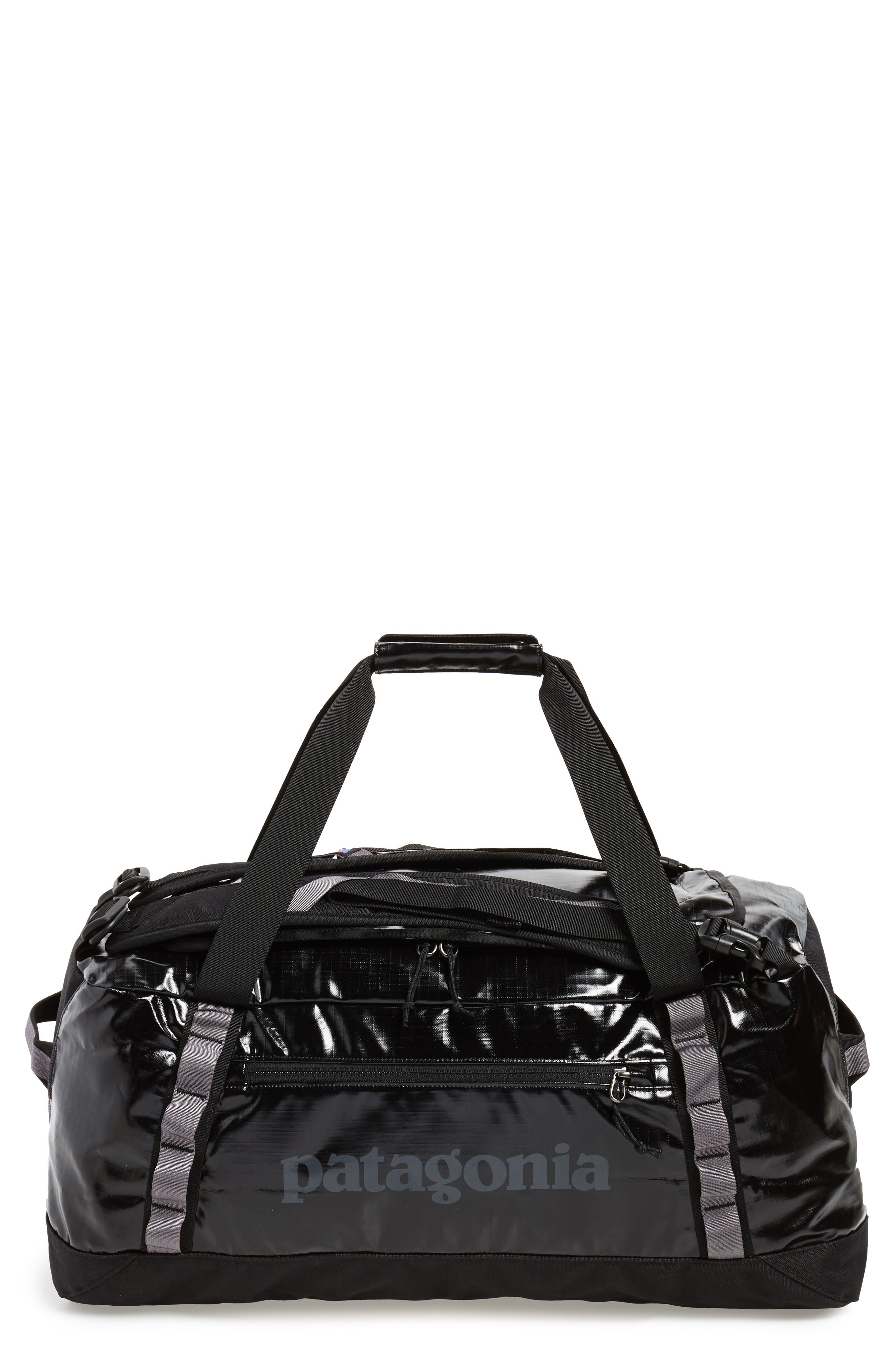 PATAGONIA, Black Hole Water Repellent 60-Liter Duffle Bag, Main thumbnail 1, color, BLACK