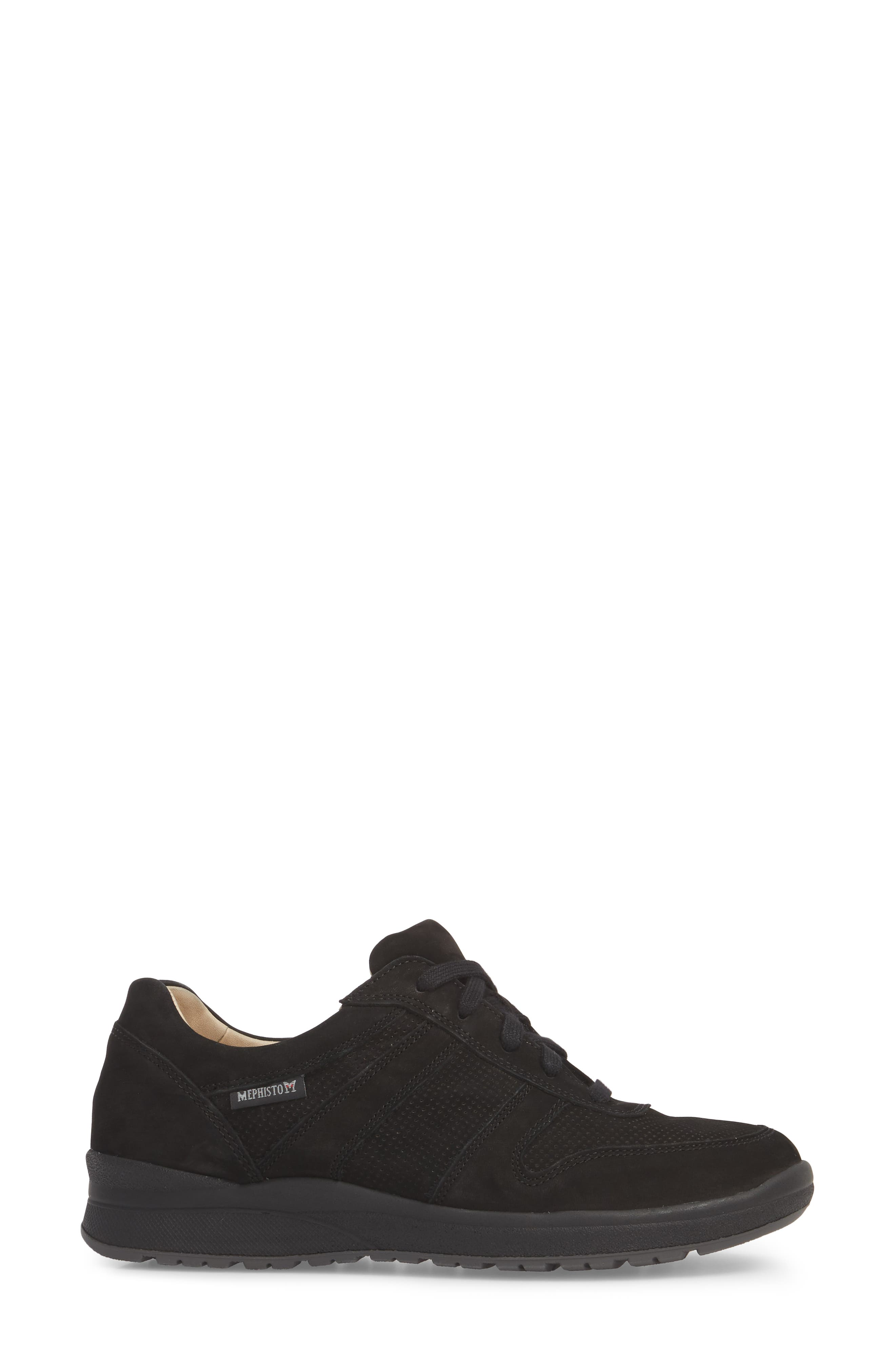 MEPHISTO, Rebecca Perforated Sneaker, Alternate thumbnail 3, color, 002