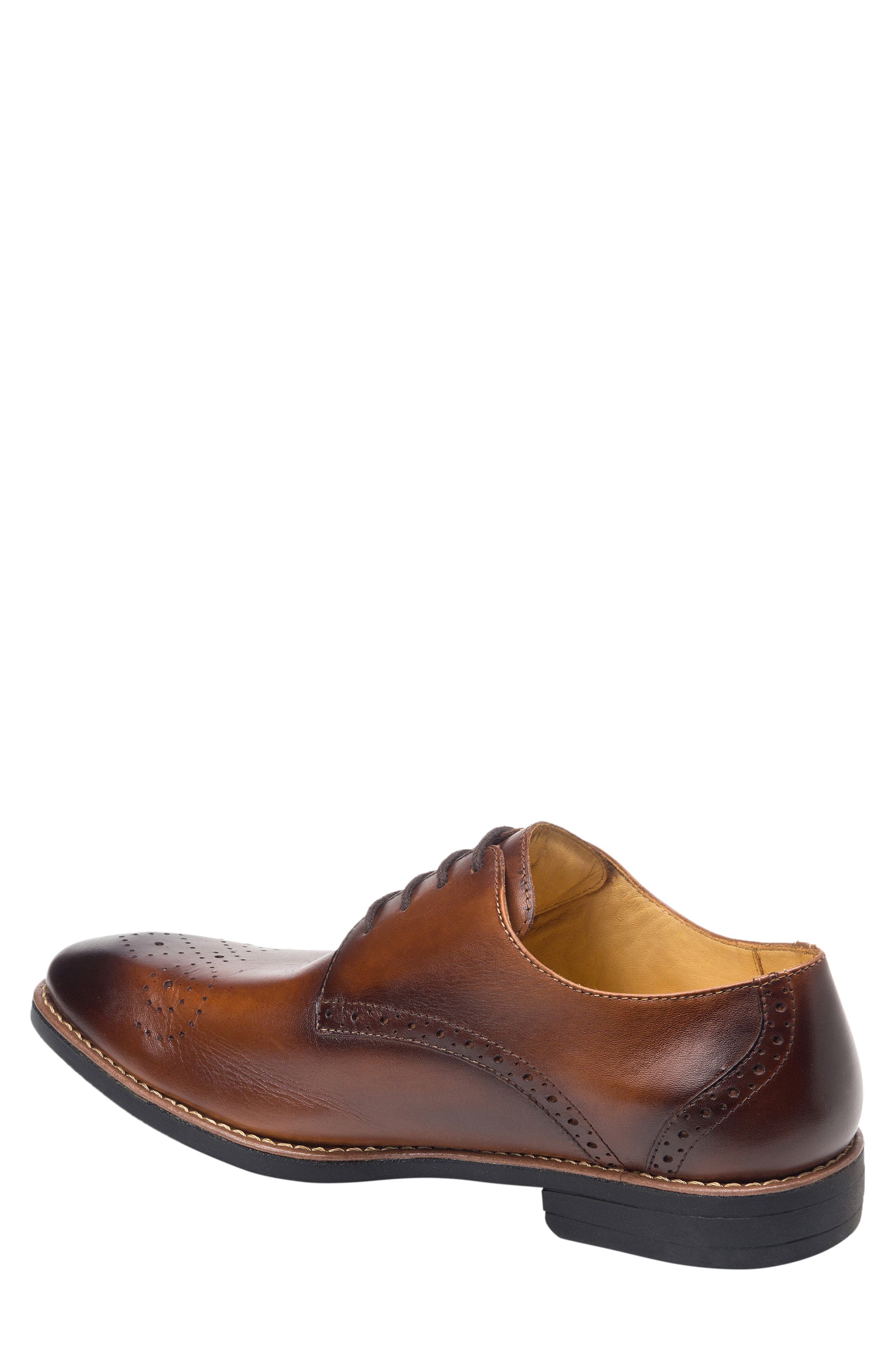 SANDRO MOSCOLONI, Mended Medallion Toe Derby, Alternate thumbnail 2, color, BROWN LEATHER
