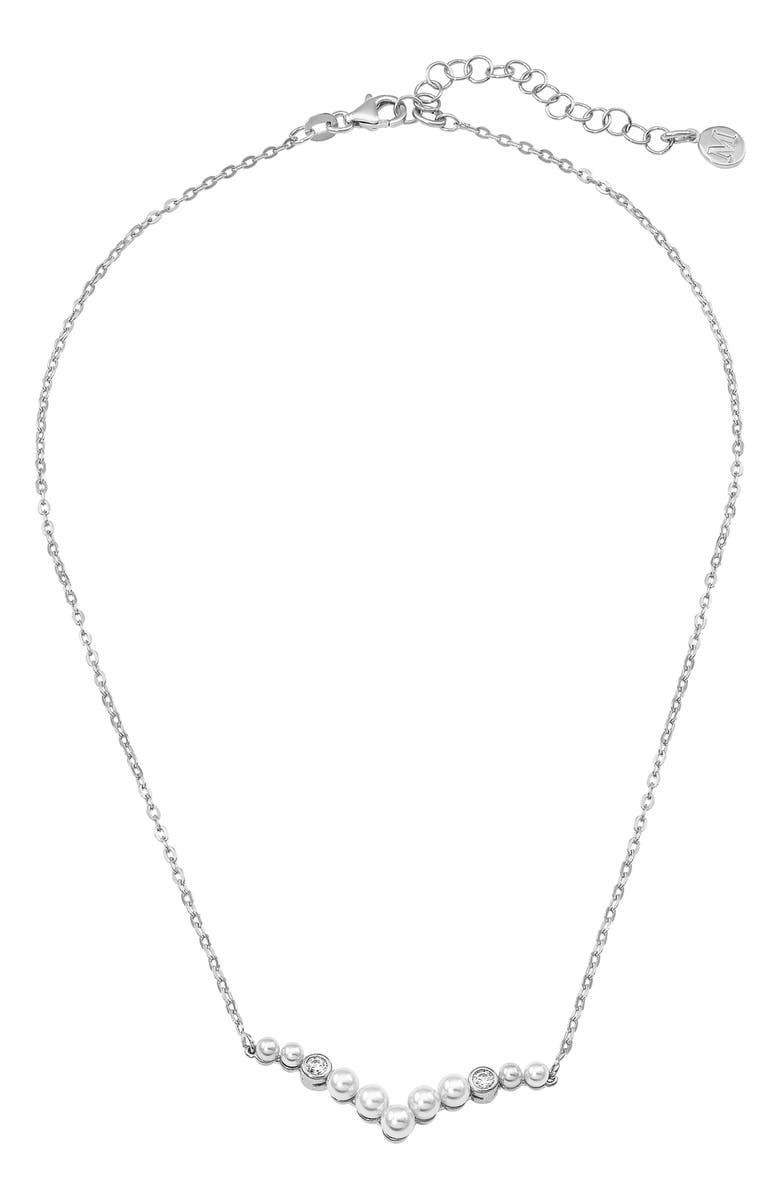 Majorica Accessories SIMULATED PEARL & CUBIC ZIRCONIA NECKLACE
