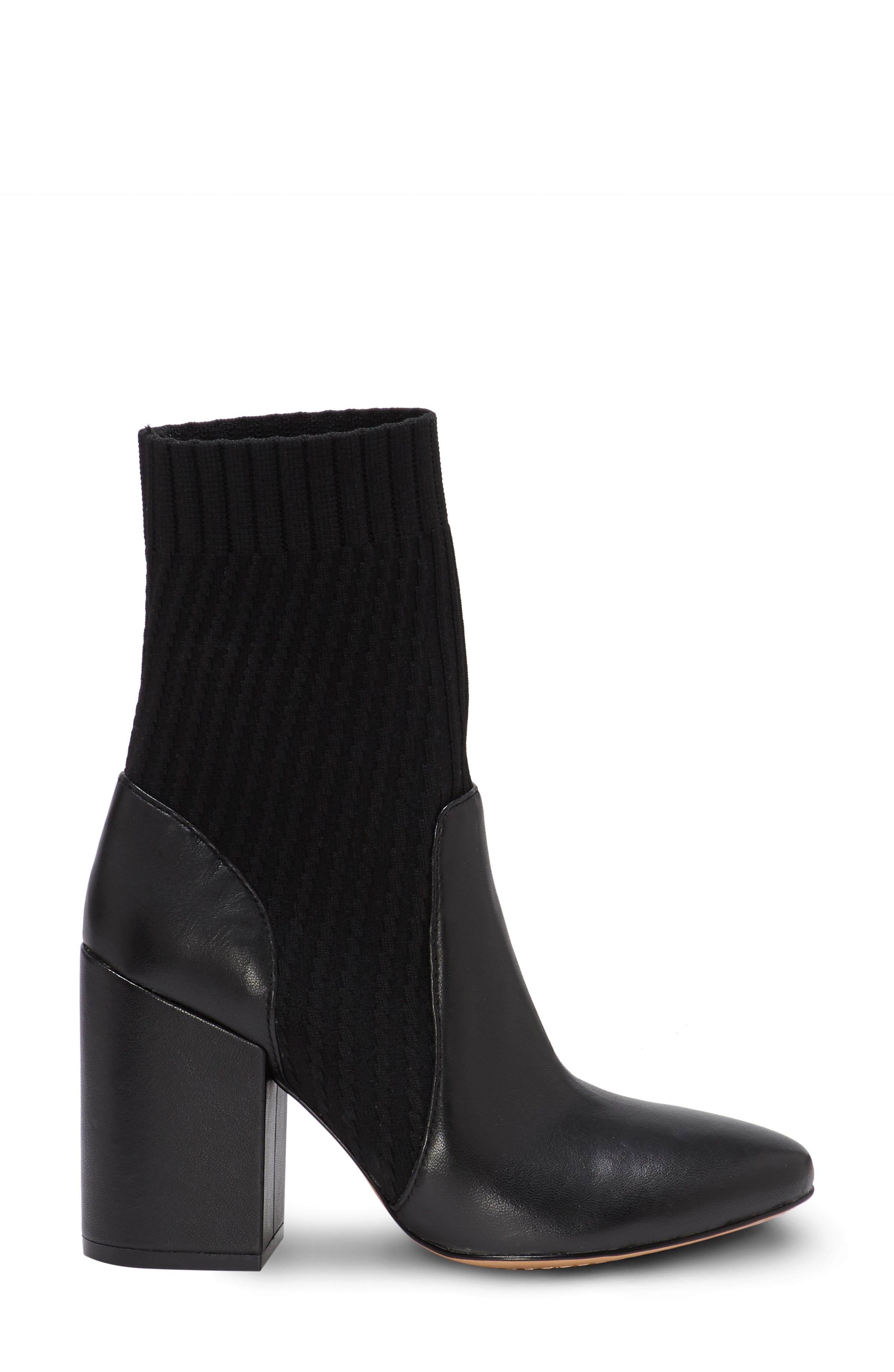 VINCE CAMUTO, Diandra Boot, Alternate thumbnail 3, color, BLACK LEATHER