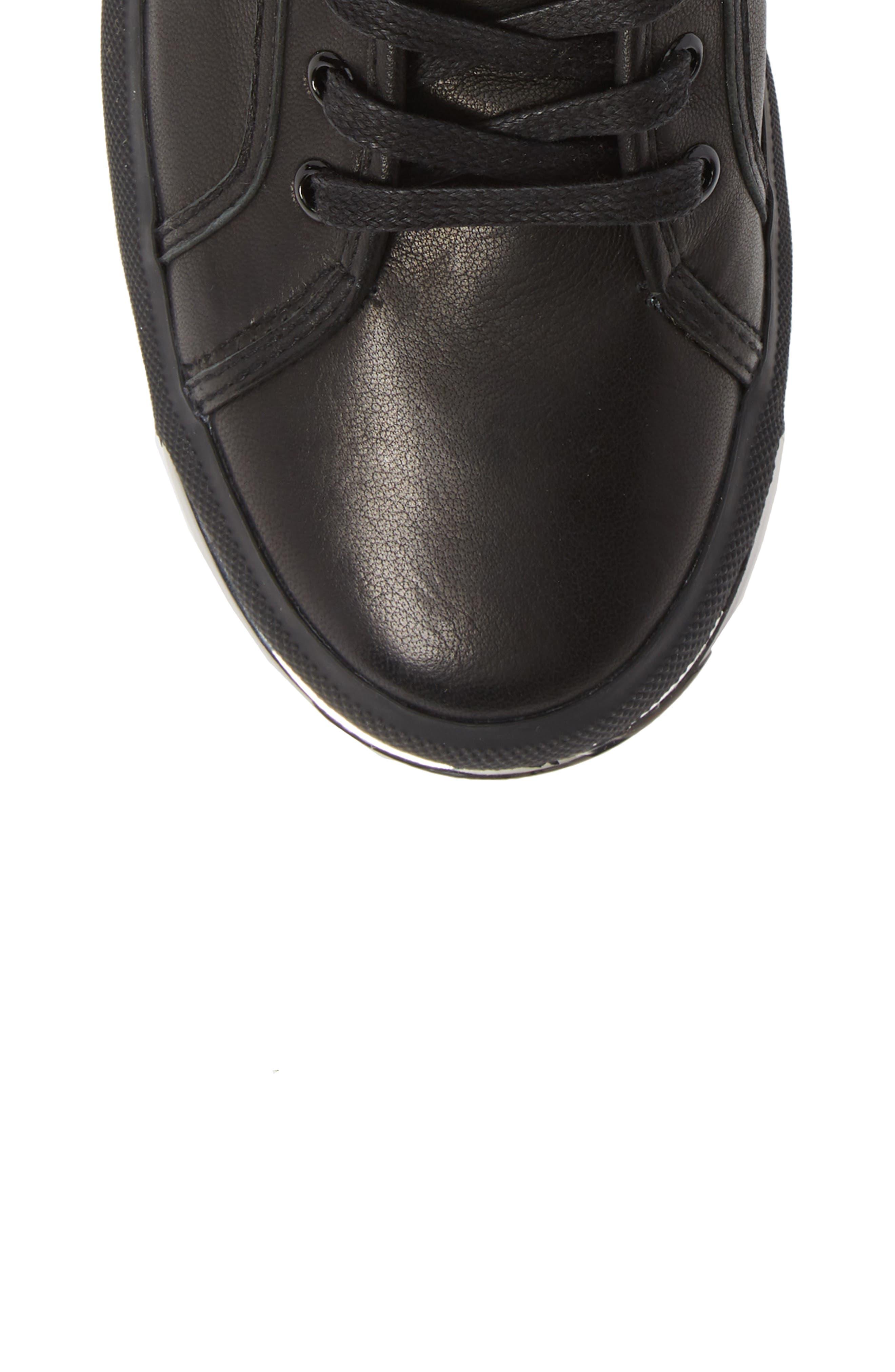 ALEXANDER WANG, Pia High Top Sneaker, Alternate thumbnail 5, color, BLACK