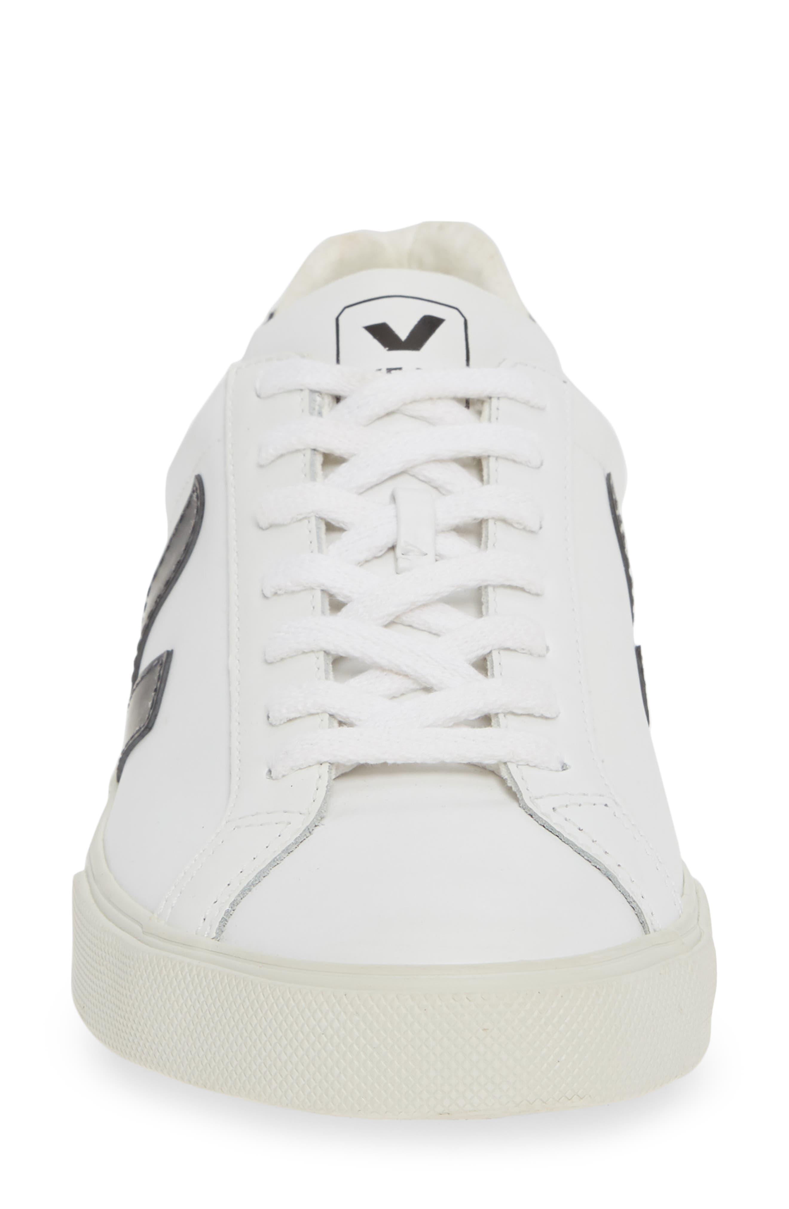 VEJA, Esplar Sneaker, Alternate thumbnail 4, color, EXTRA WHITE BLACK