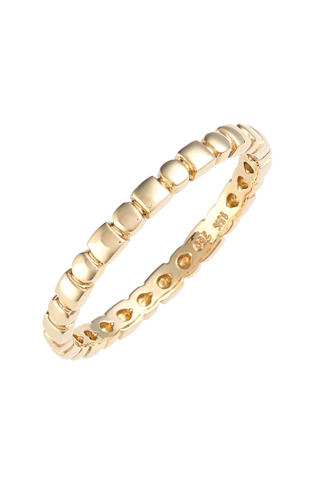 BONY LEVY, 14KT Beaded Ring, Main thumbnail 1, color, YELLOW GOLD