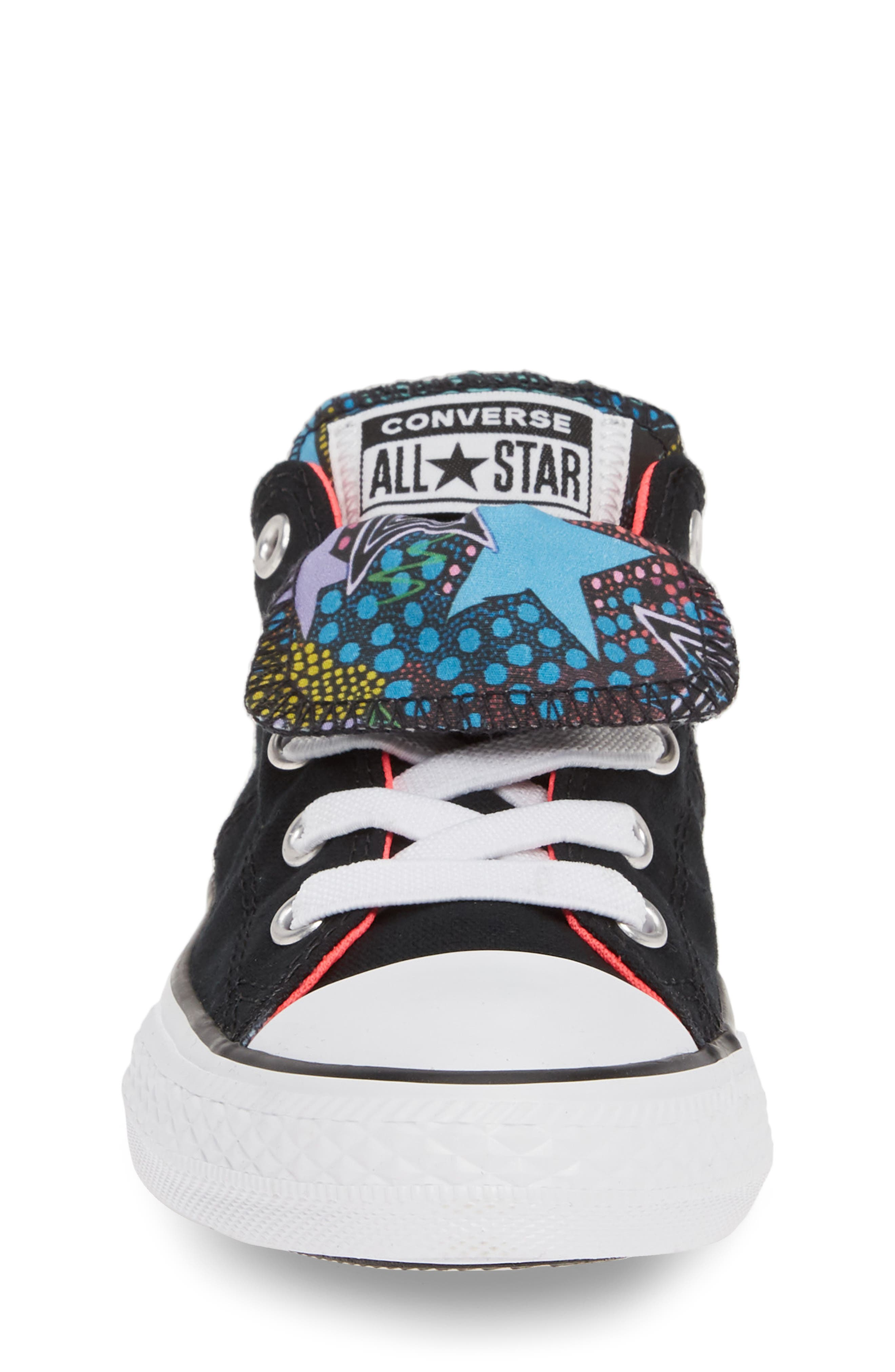 CONVERSE, Chuck Taylor<sup>®</sup> All Star<sup>®</sup> Maddie Double Tongue Sneaker, Alternate thumbnail 4, color, 001