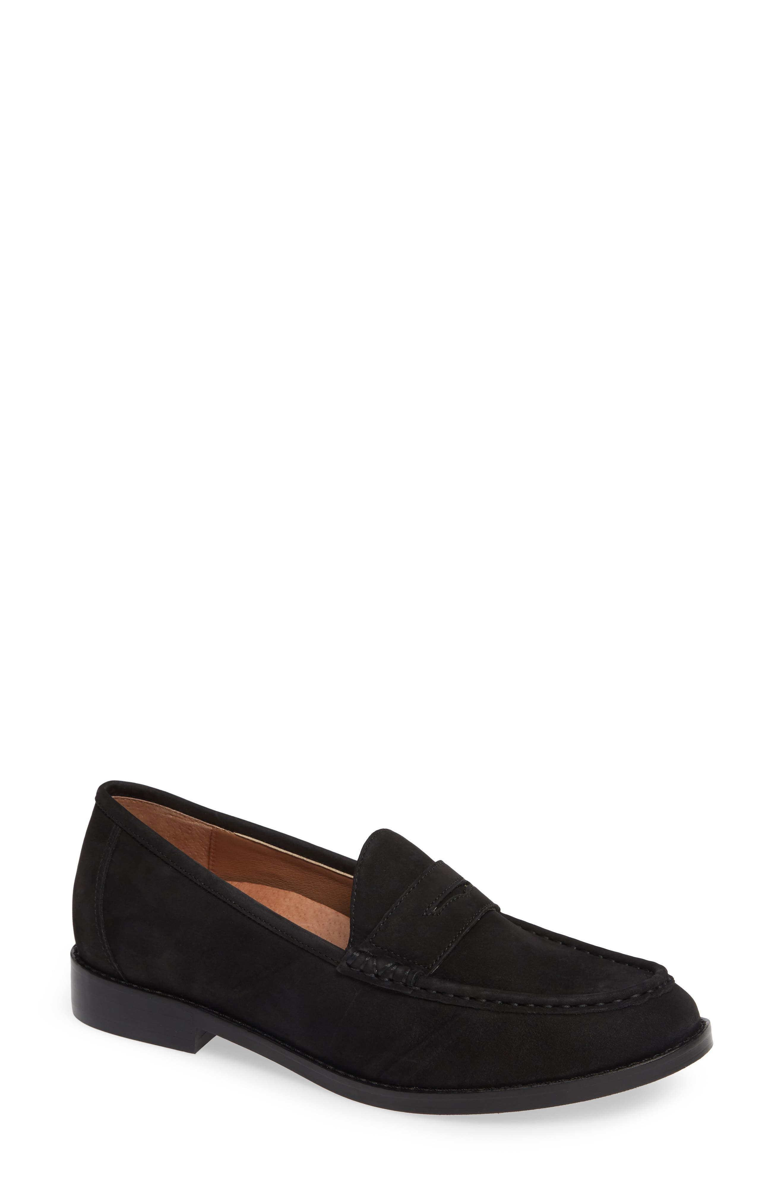 VIONIC, Waverly Loafer, Main thumbnail 1, color, BLACK LEATHER