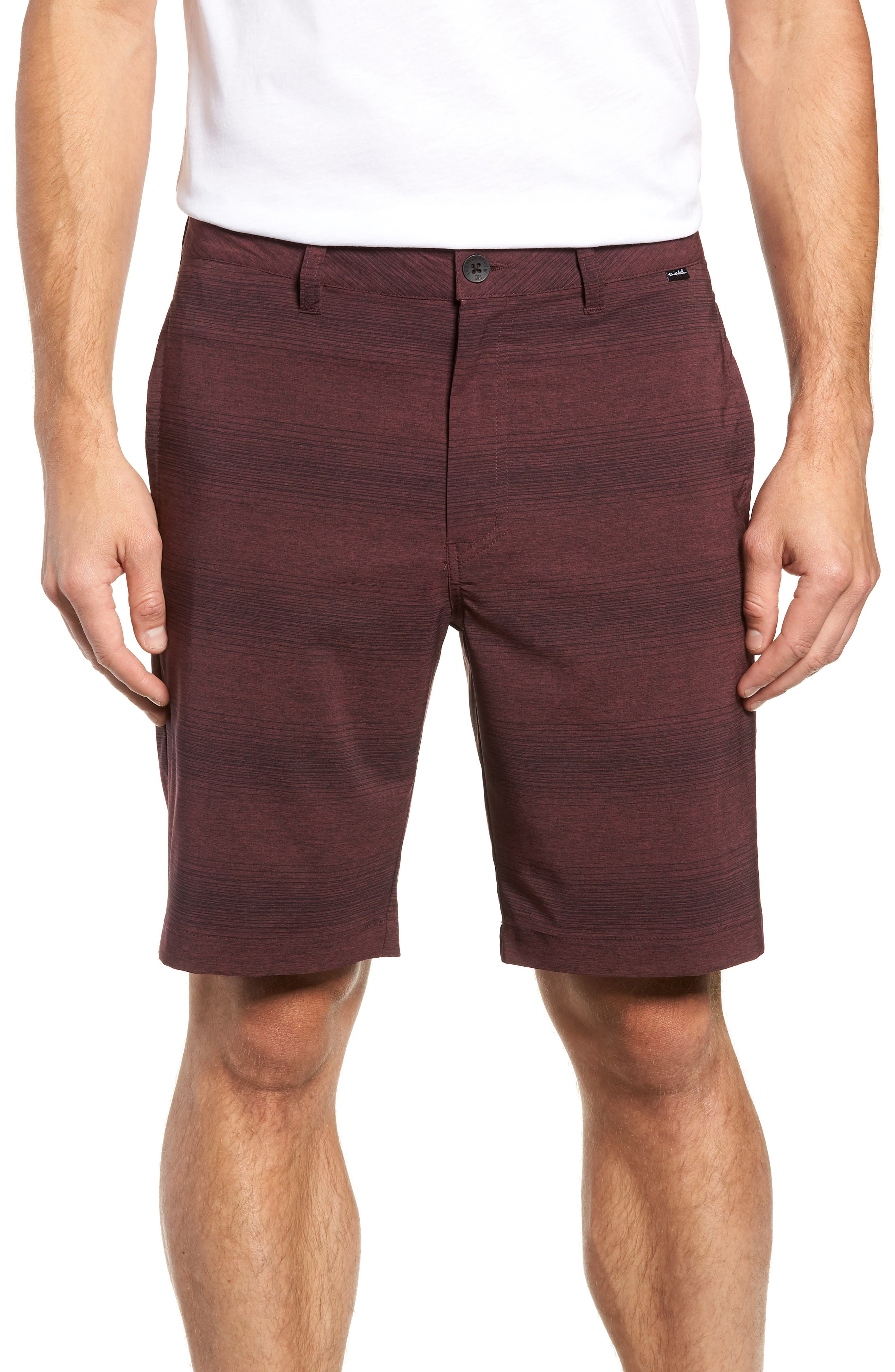 TRAVISMATHEW, Tepic Shorts, Main thumbnail 1, color, WINETASTING/ BLACK