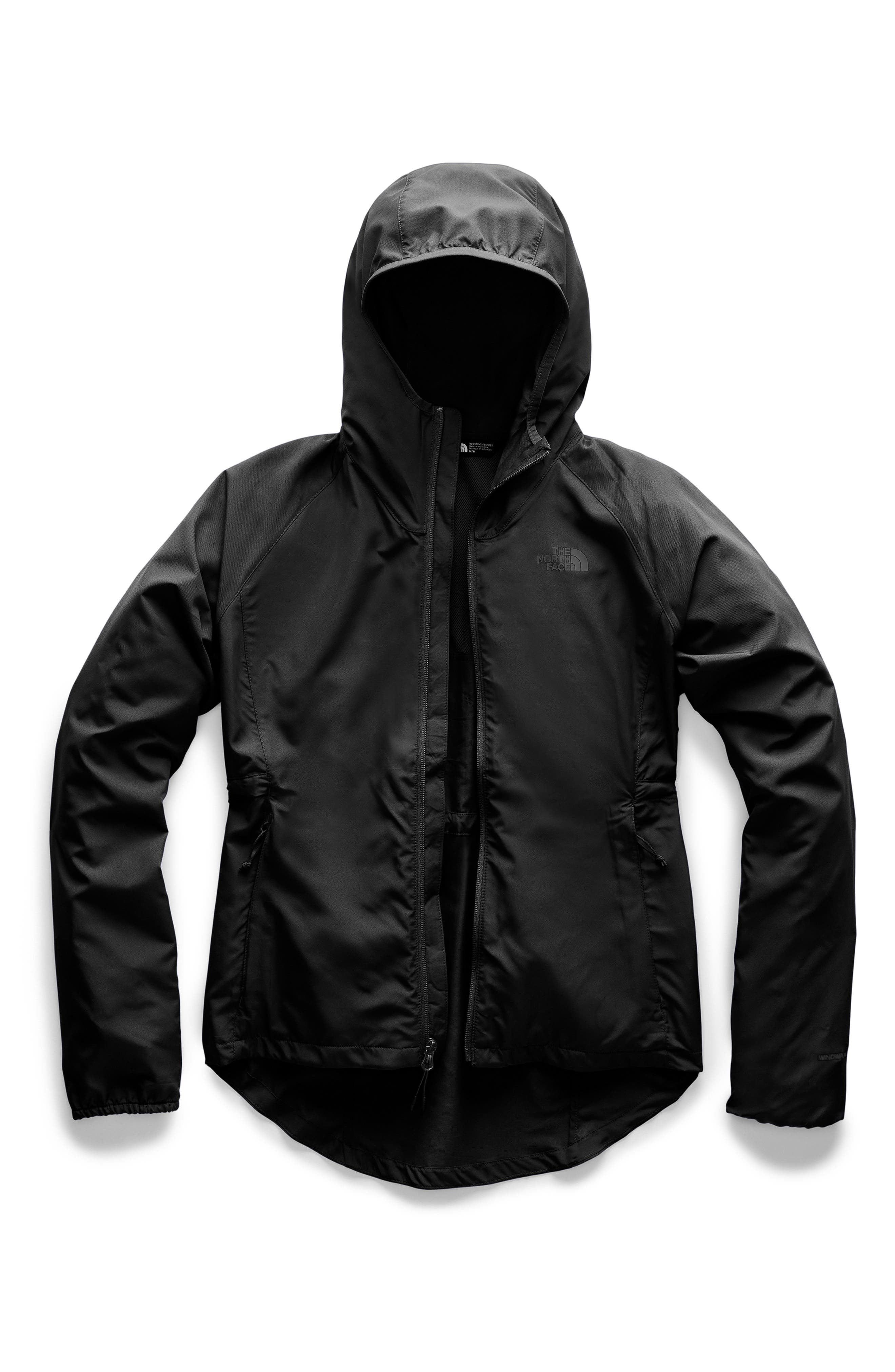 THE NORTH FACE, Flyweight Hooded Jacket, Alternate thumbnail 3, color, 001