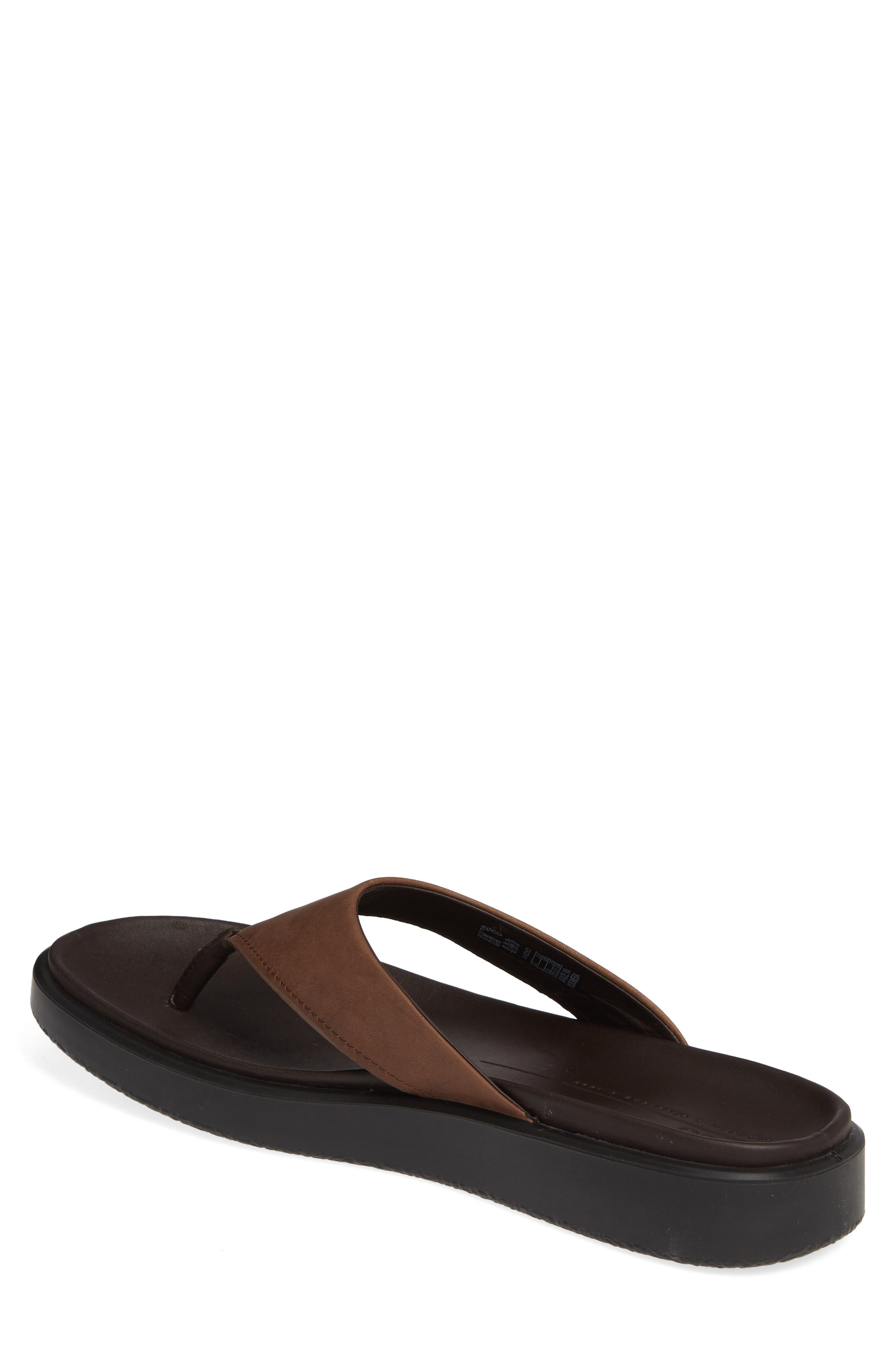 ECCO, Flowt LX Flip Flop, Alternate thumbnail 2, color, COCOA BROWN OILED NUBUCK