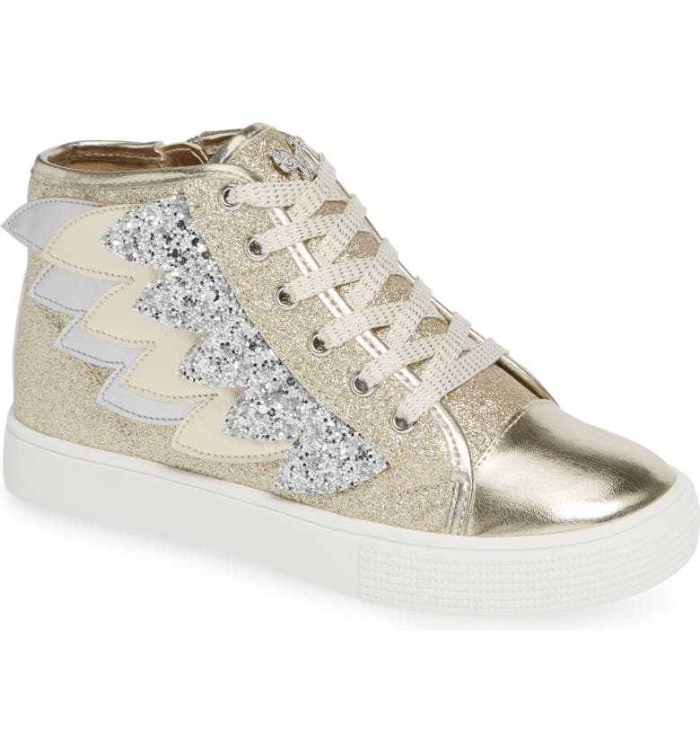 b5a166712ca4 WELLIEWISHERS FROM AMERICAN GIRL Willa Winged Glitter High Top Sneaker