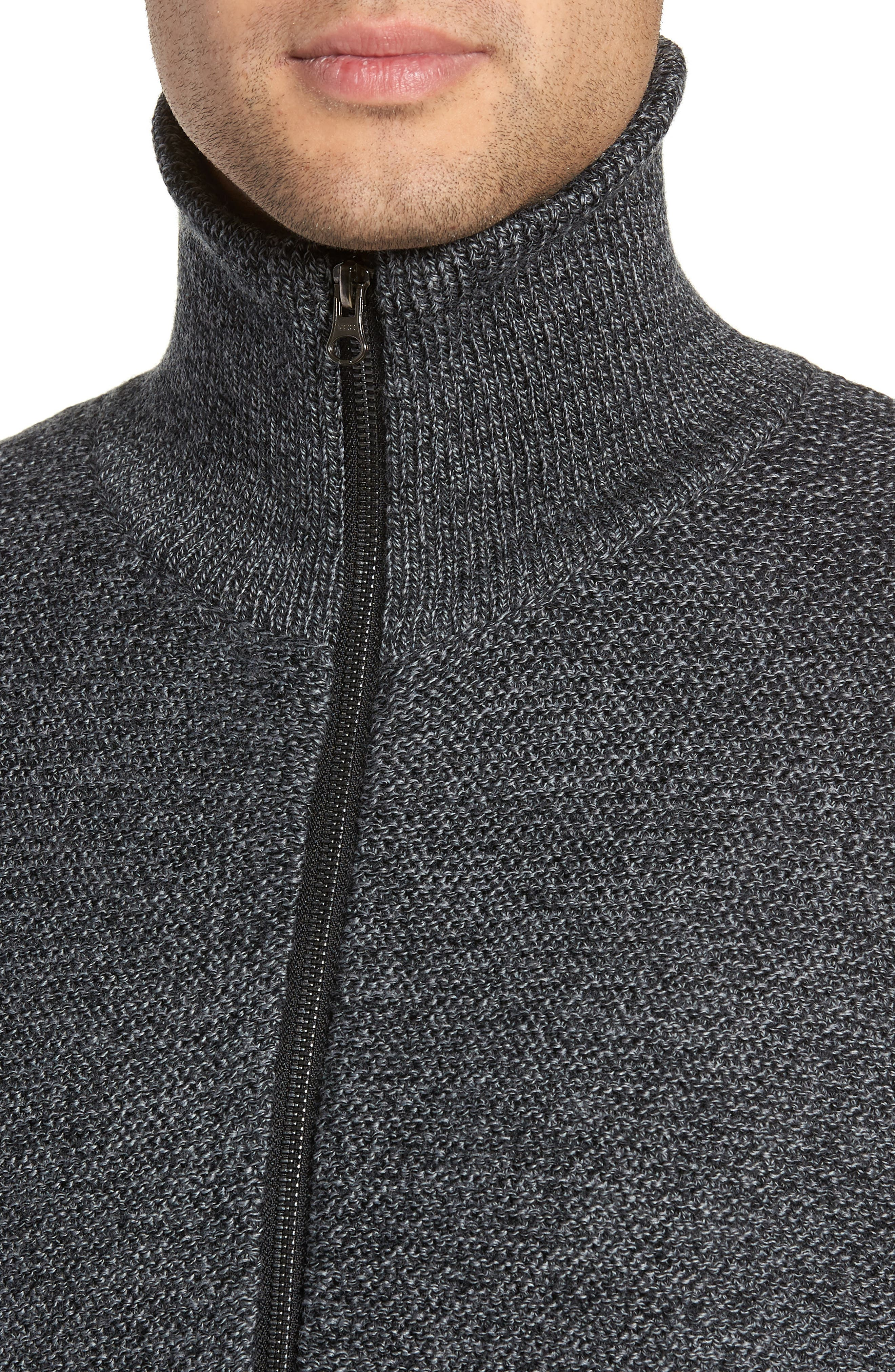 TWENTYMETRICTONS, Front Zip Wool Sweater, Alternate thumbnail 4, color, 015