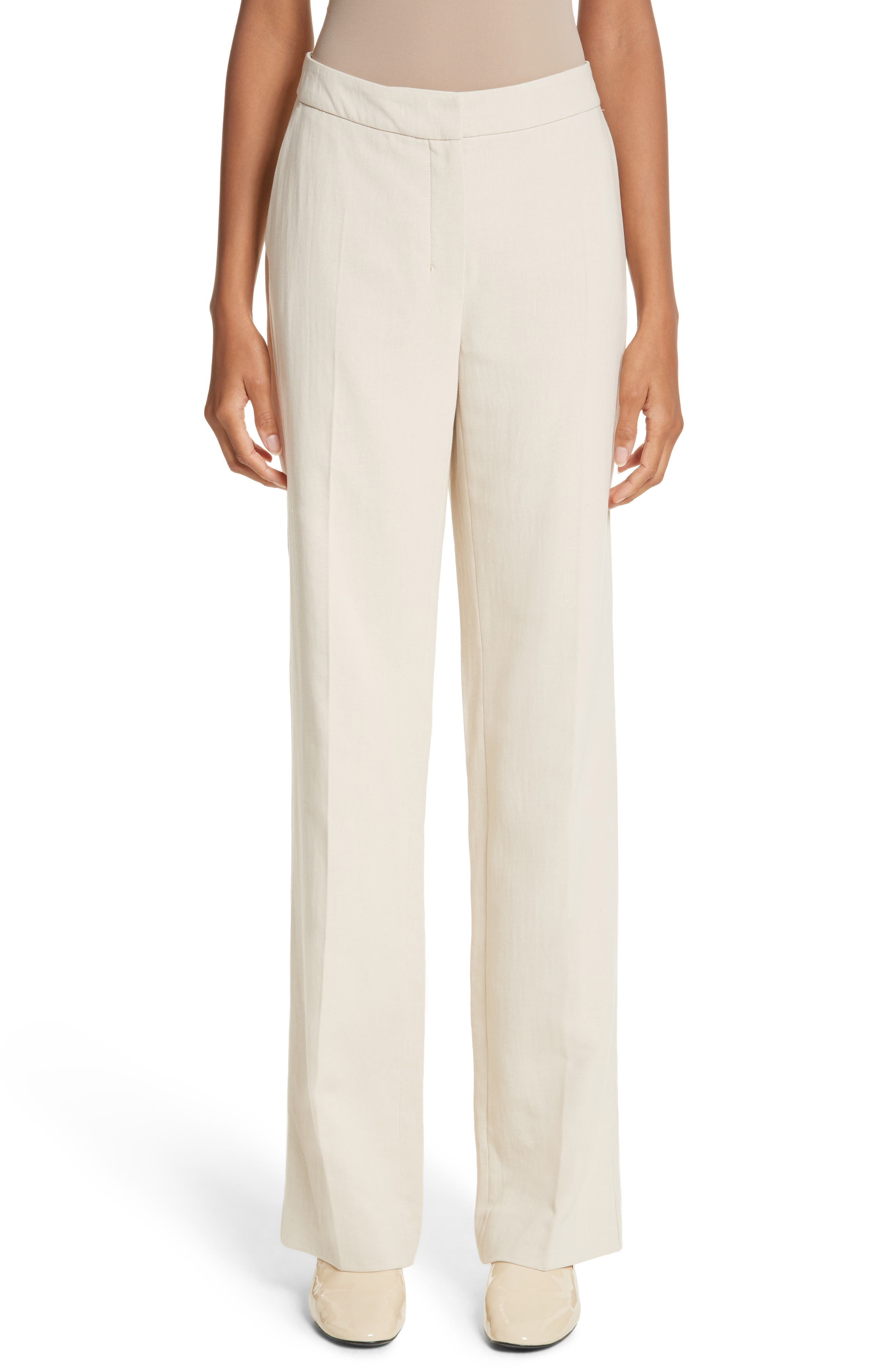 MAX MARA, Cursore Cotton Wide Leg Pants, Main thumbnail 1, color, 900