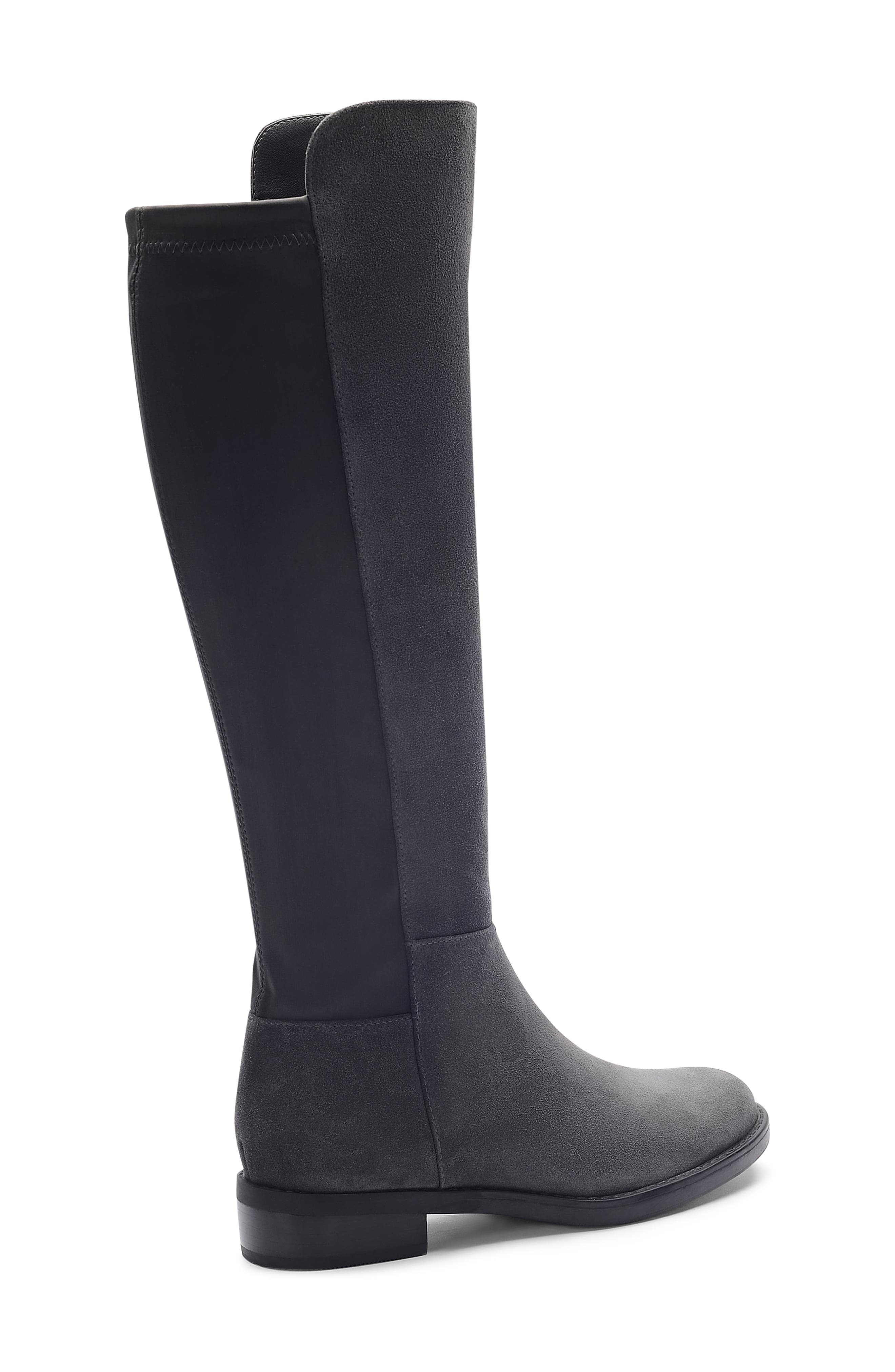 BLONDO, Ellie Waterproof Knee High Riding Boot, Alternate thumbnail 7, color, DARK GREY SUEDE