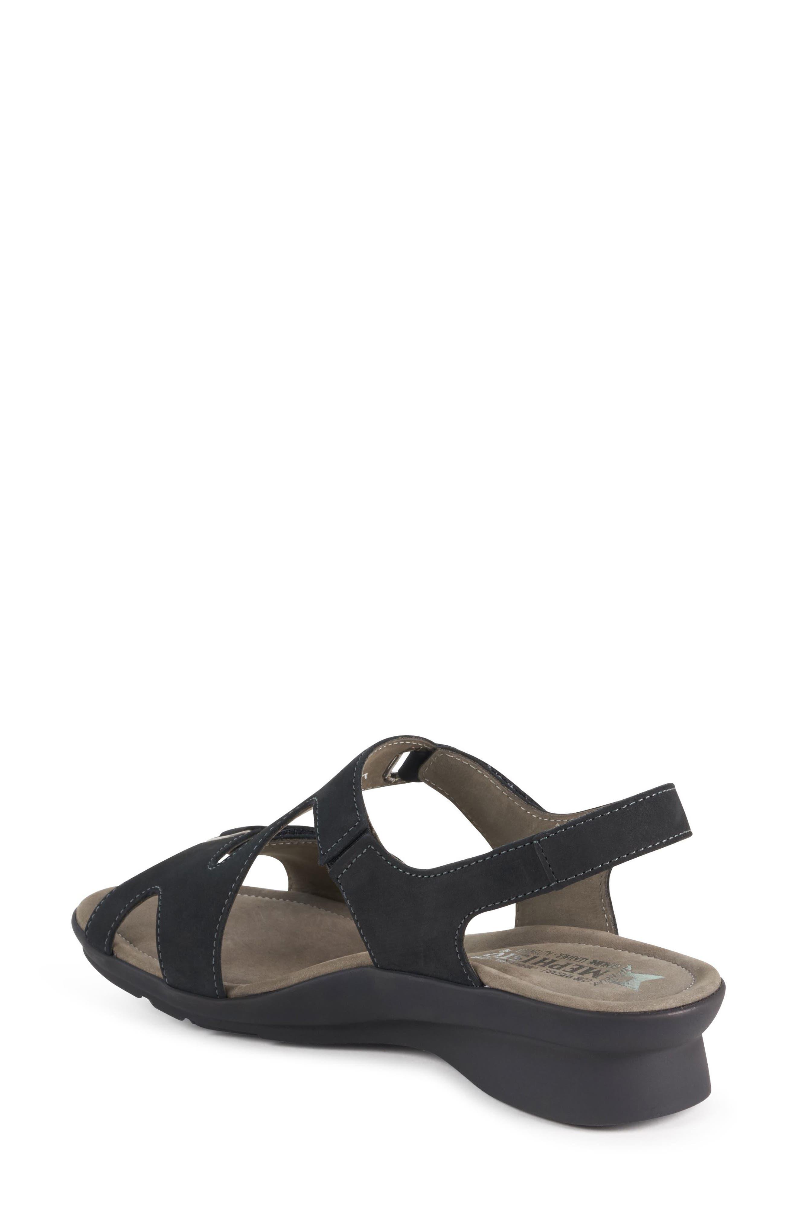 MEPHISTO, 'Paris' Slingback Sandal, Alternate thumbnail 3, color, BLACK