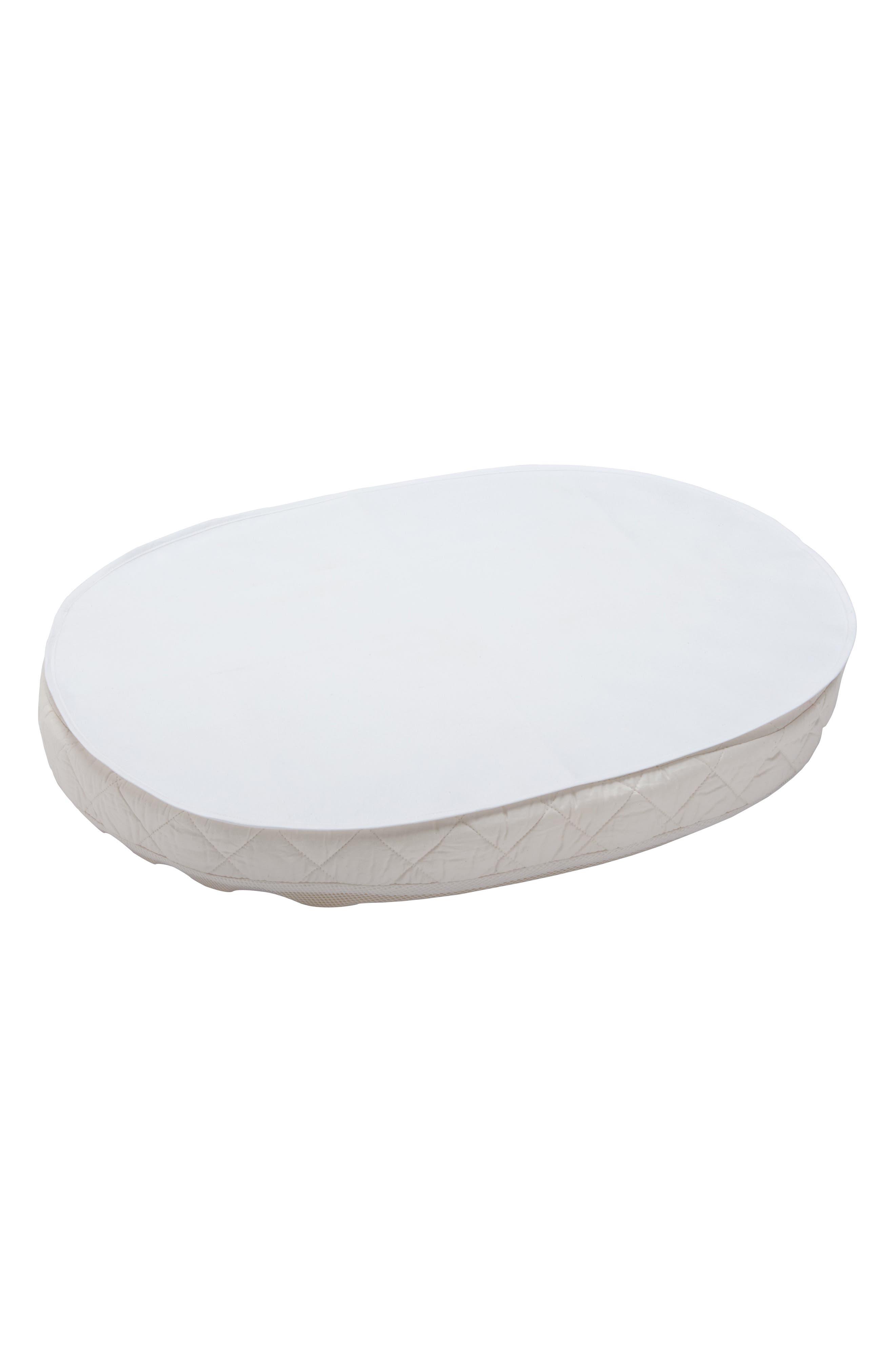STOKKE, Sleepi Mini Waterproof Crib Sheet, Main thumbnail 1, color, WHITE